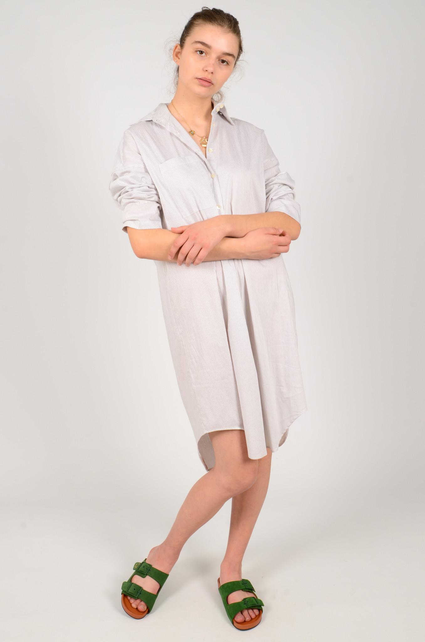 STRIPED SHIRT DRESS-2