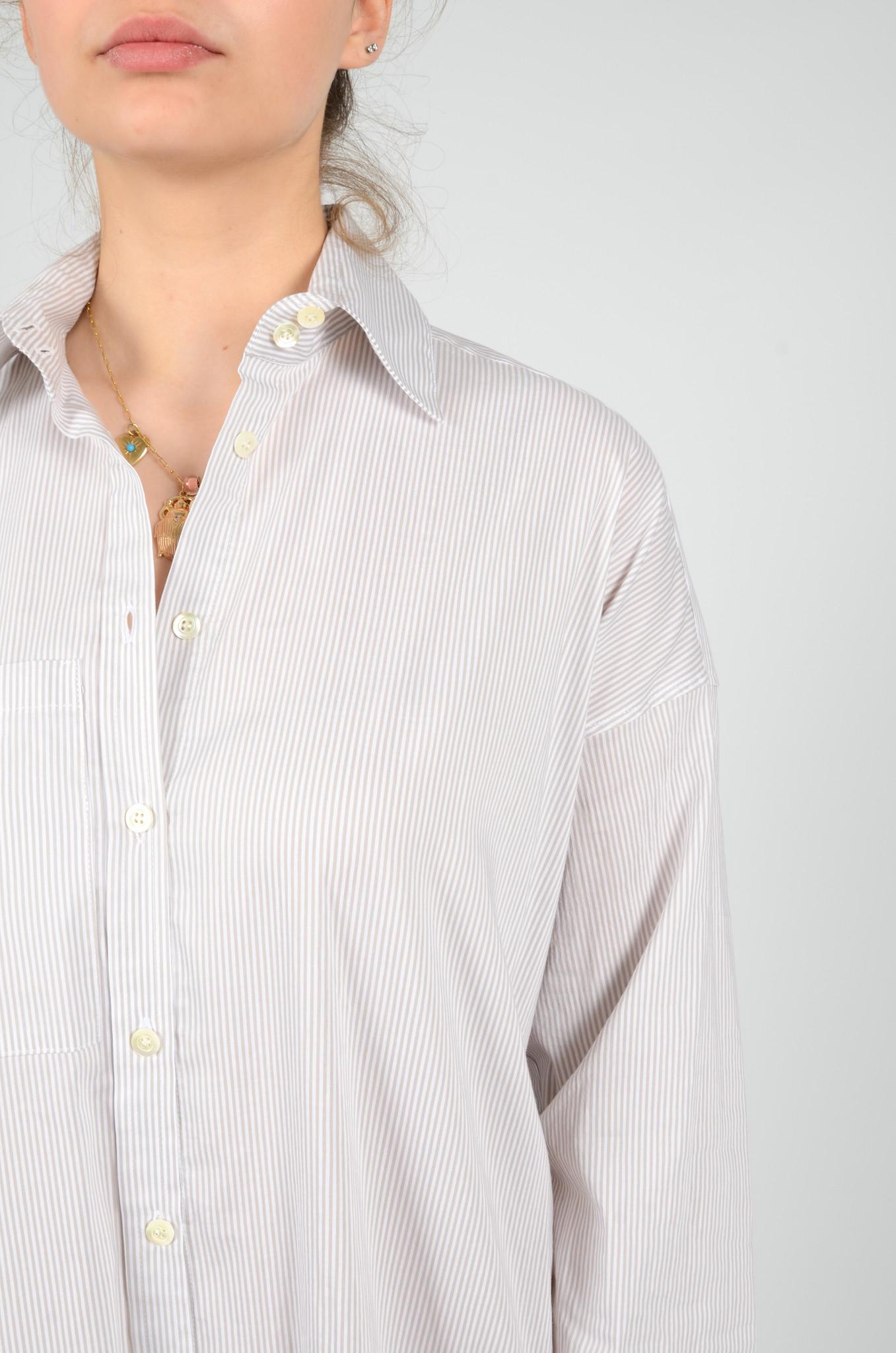 STRIPED SHIRT DRESS-5