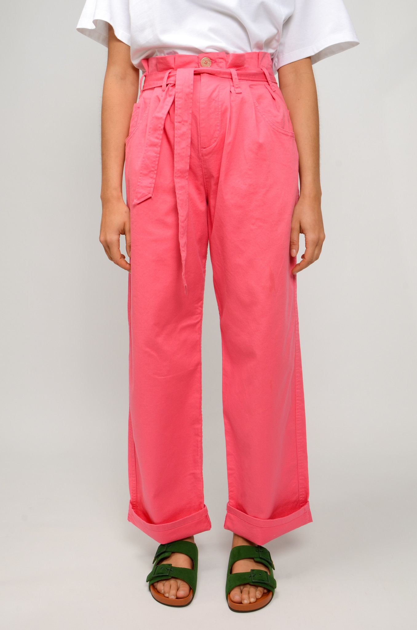 NYSHA TROUSERS IN HONEYSUCKLE PINK-1