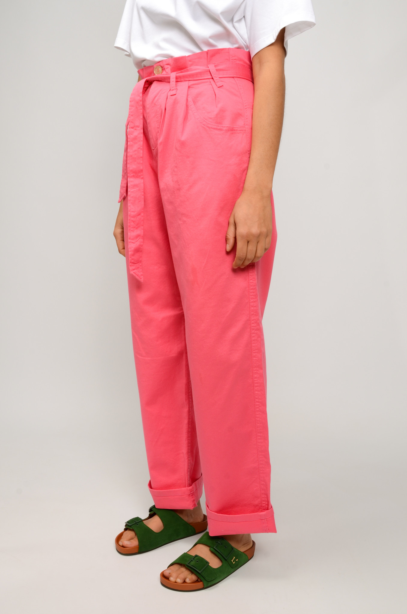 NYSHA TROUSERS IN HONEYSUCKLE PINK-3