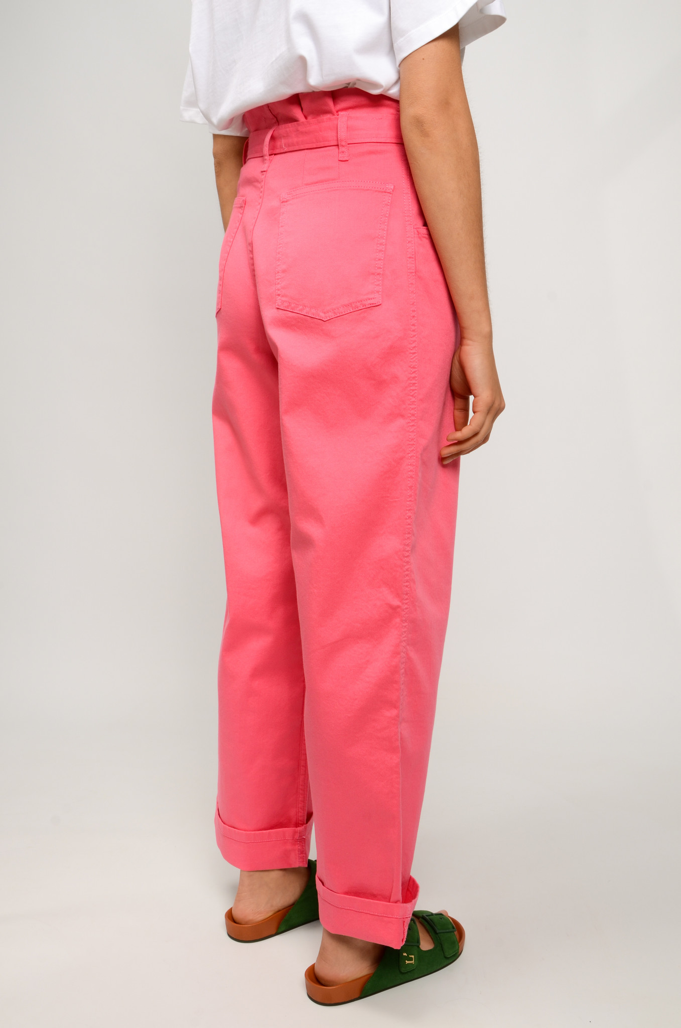 NYSHA TROUSERS IN HONEYSUCKLE PINK-4
