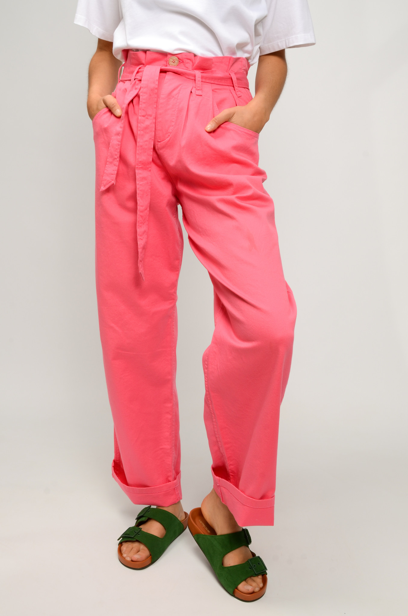 NYSHA TROUSERS IN HONEYSUCKLE PINK-5