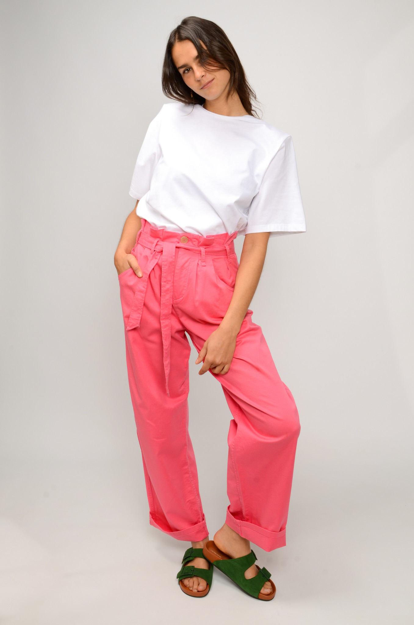 NYSHA TROUSERS IN HONEYSUCKLE PINK-2