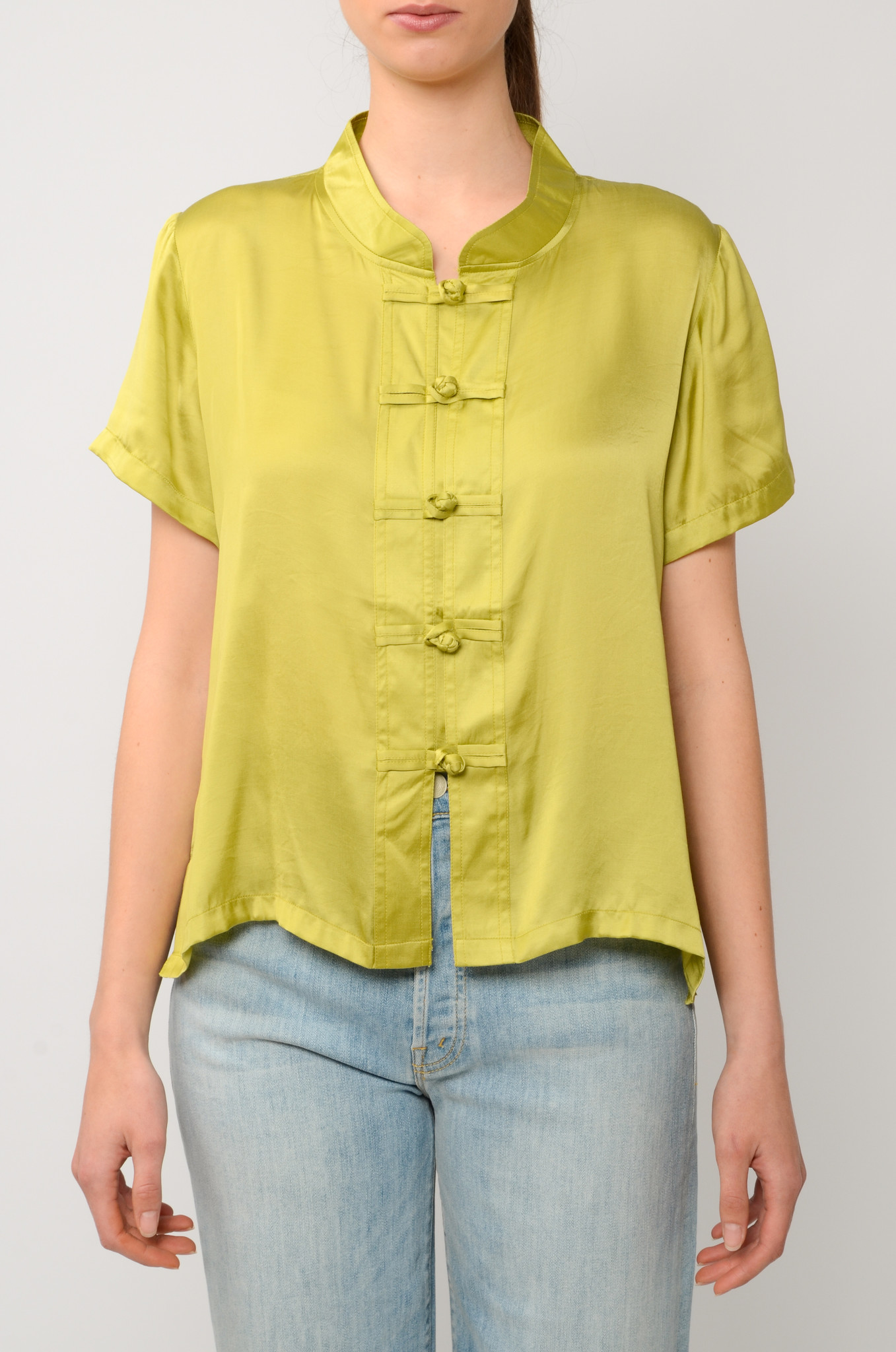 LOTUS TOP IN OLIVE-1