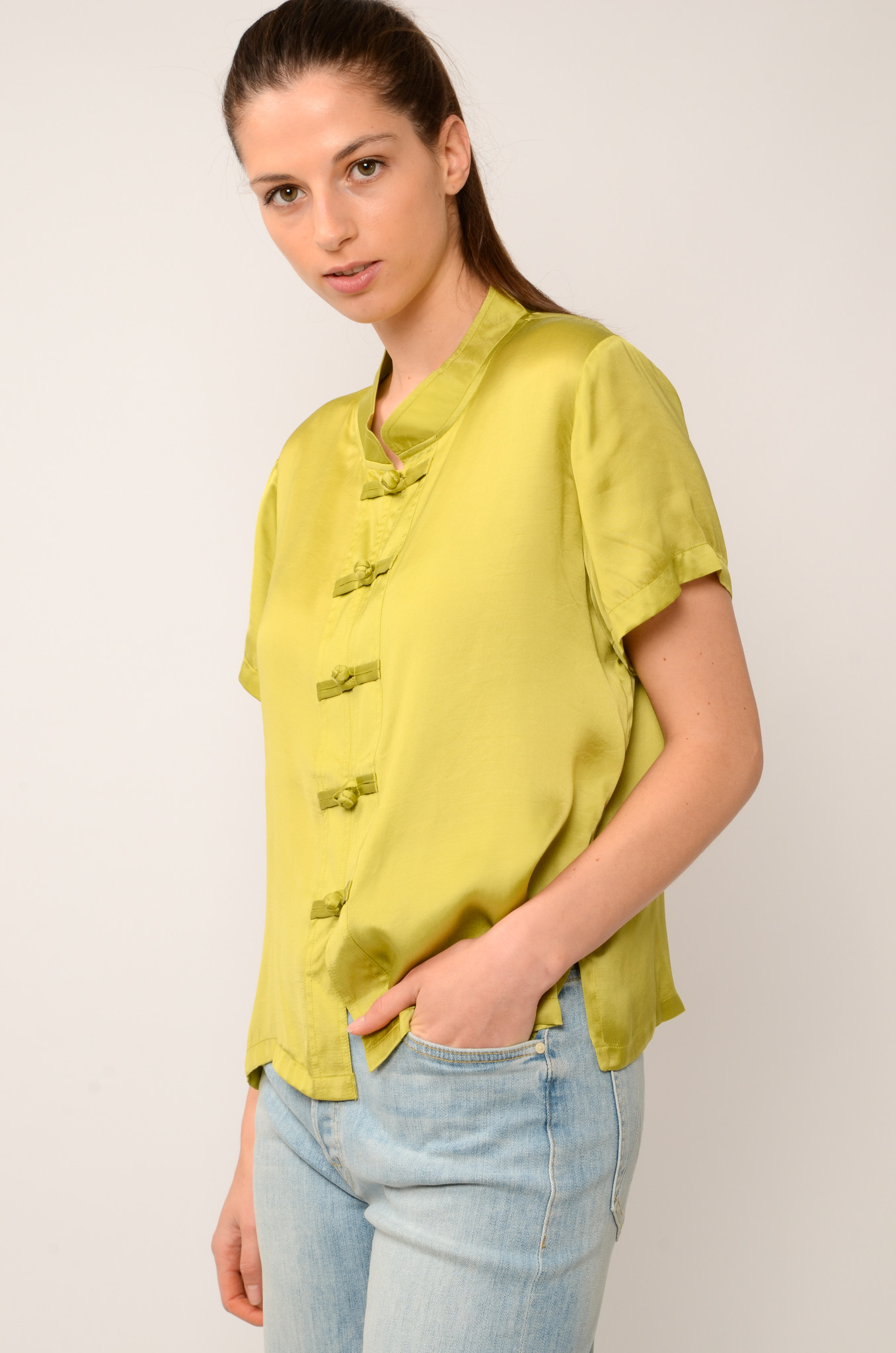LOTUS TOP IN OLIVE-2