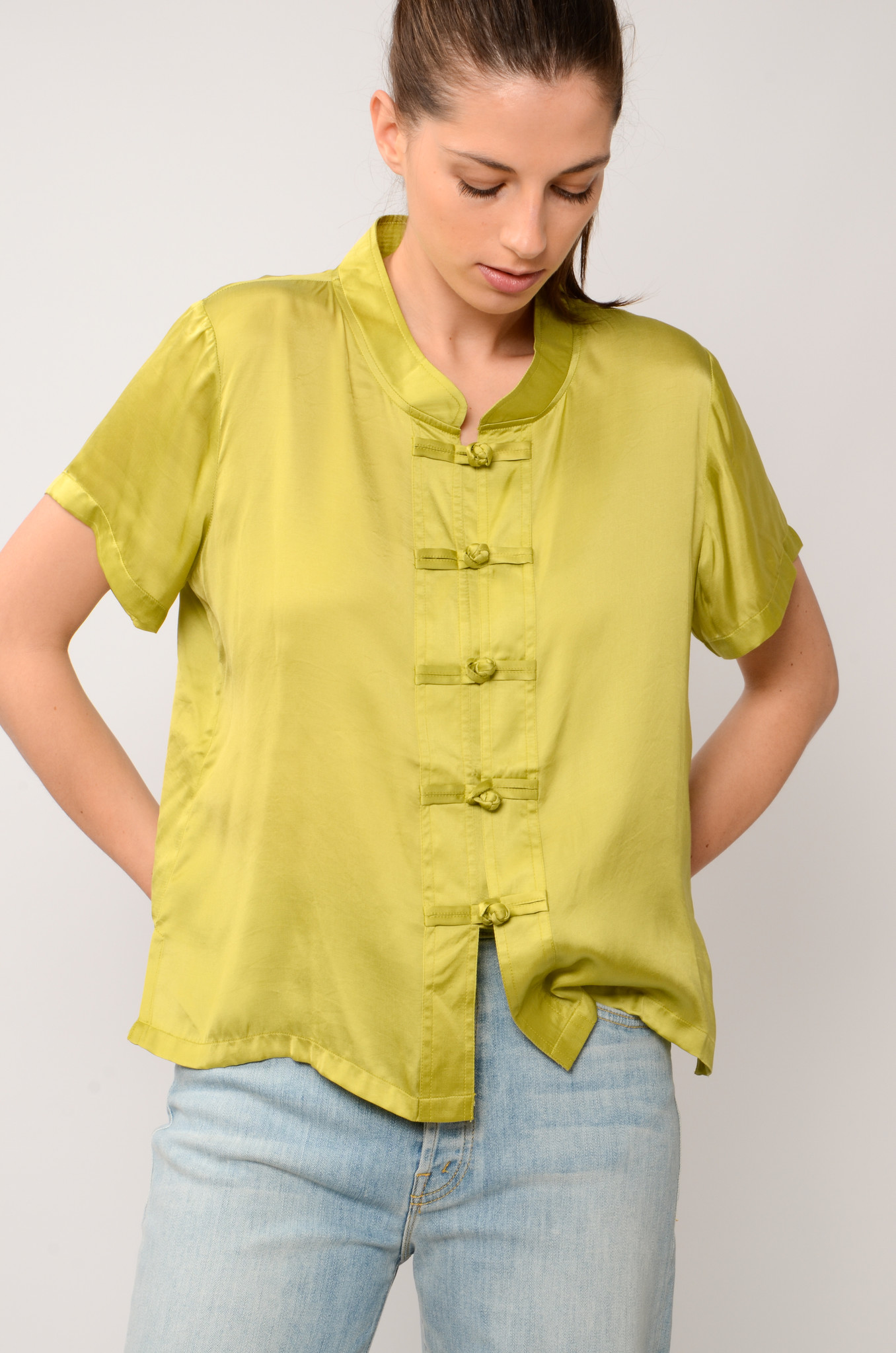 LOTUS TOP IN OLIVE-6