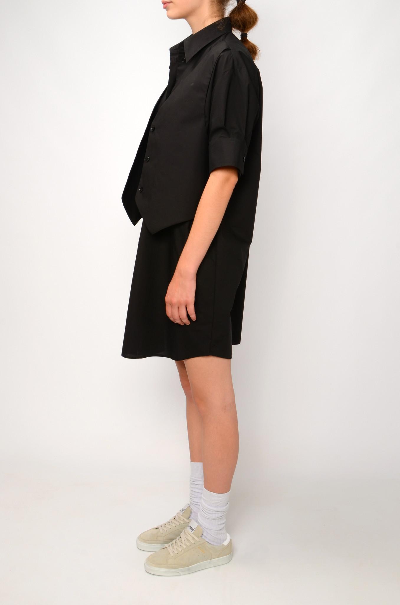 WAISTCOAT SHIRT DRESS IN BLACK-3
