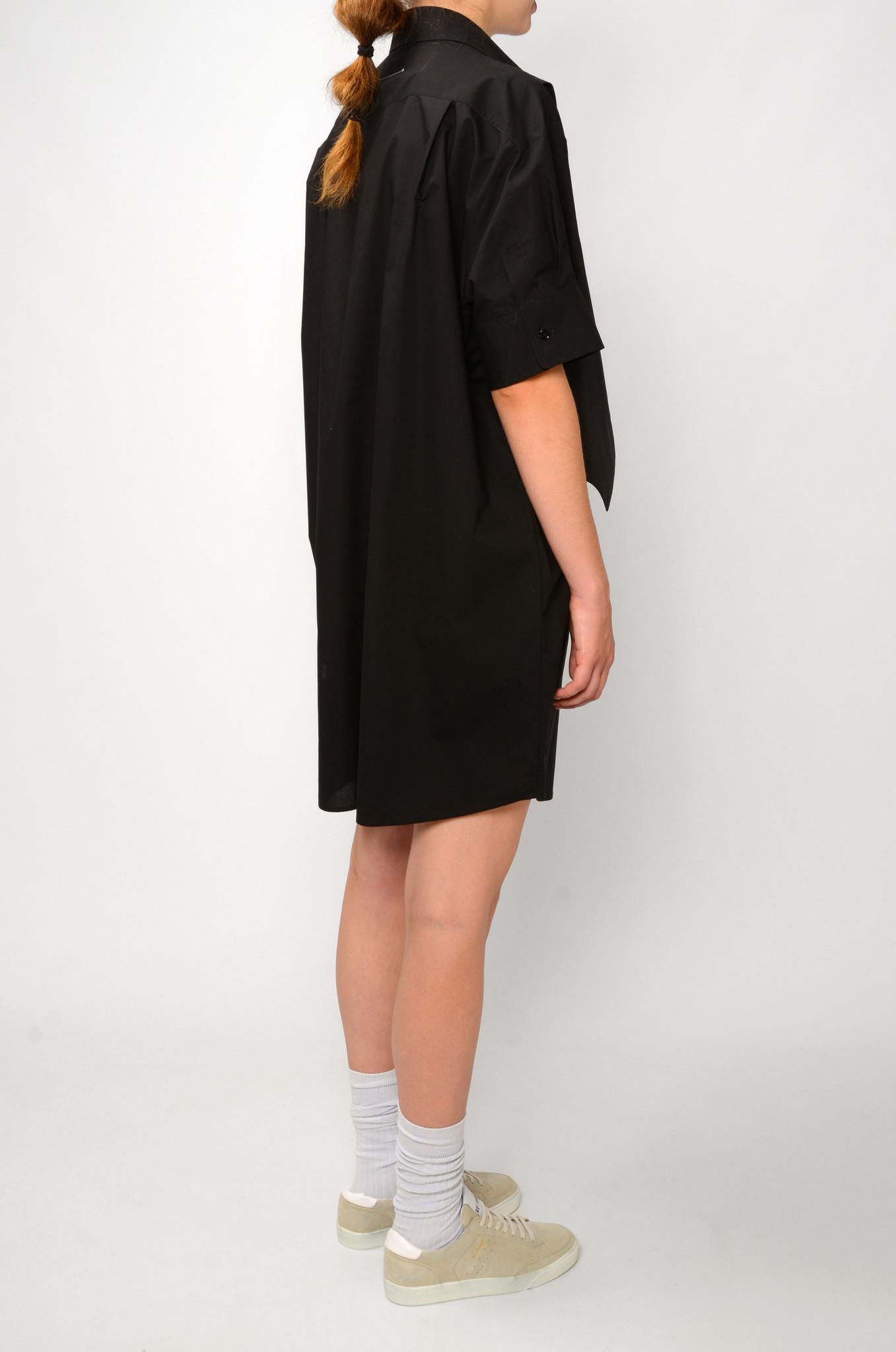 WAISTCOAT SHIRT DRESS IN BLACK-4