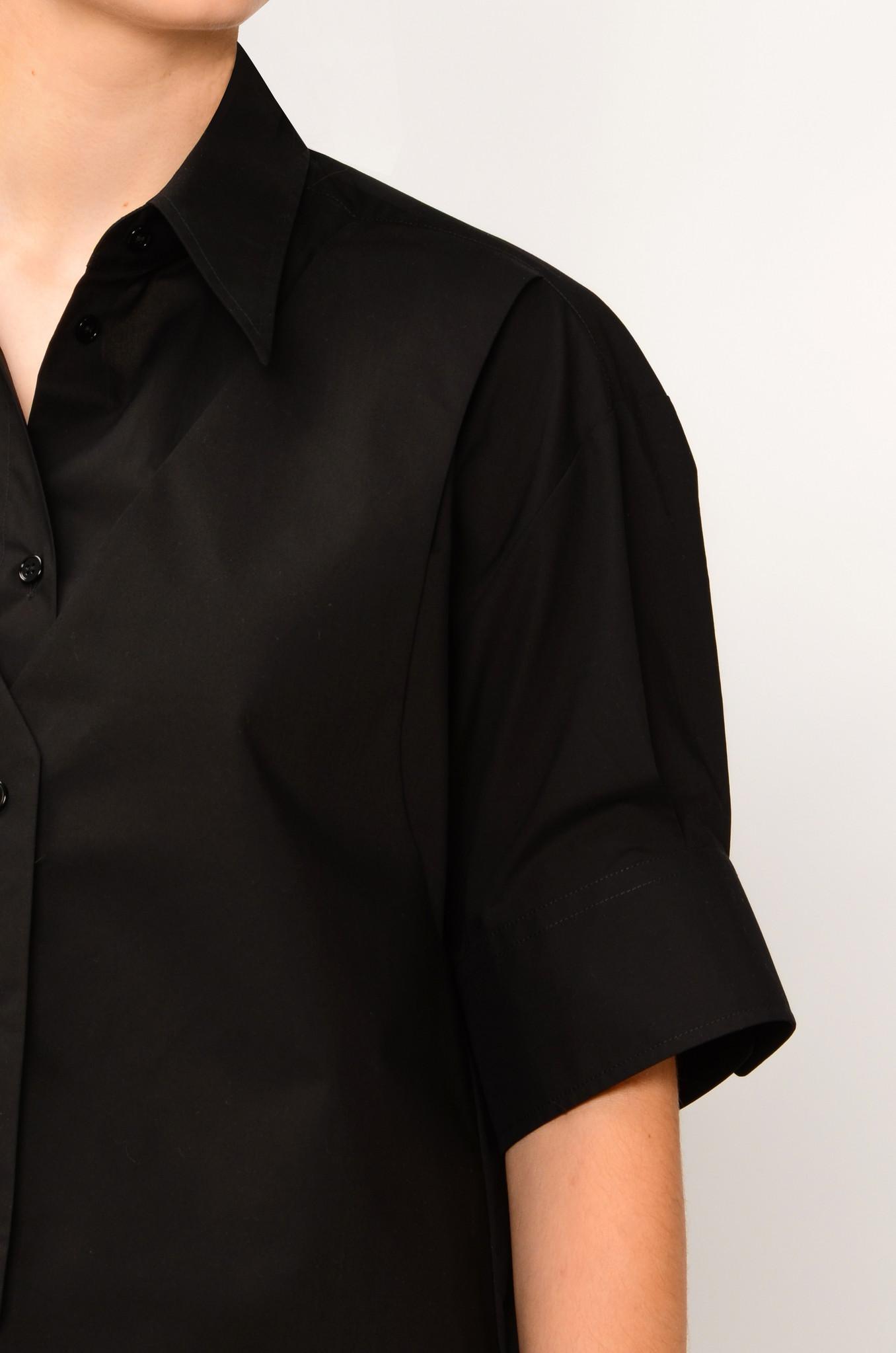 WAISTCOAT SHIRT DRESS IN BLACK-5