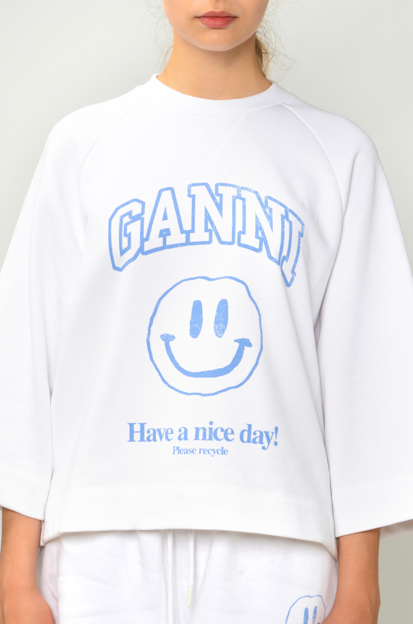 HAVE A NICE DAY SMILEY SWEATSHIRT IN HEATHER-1