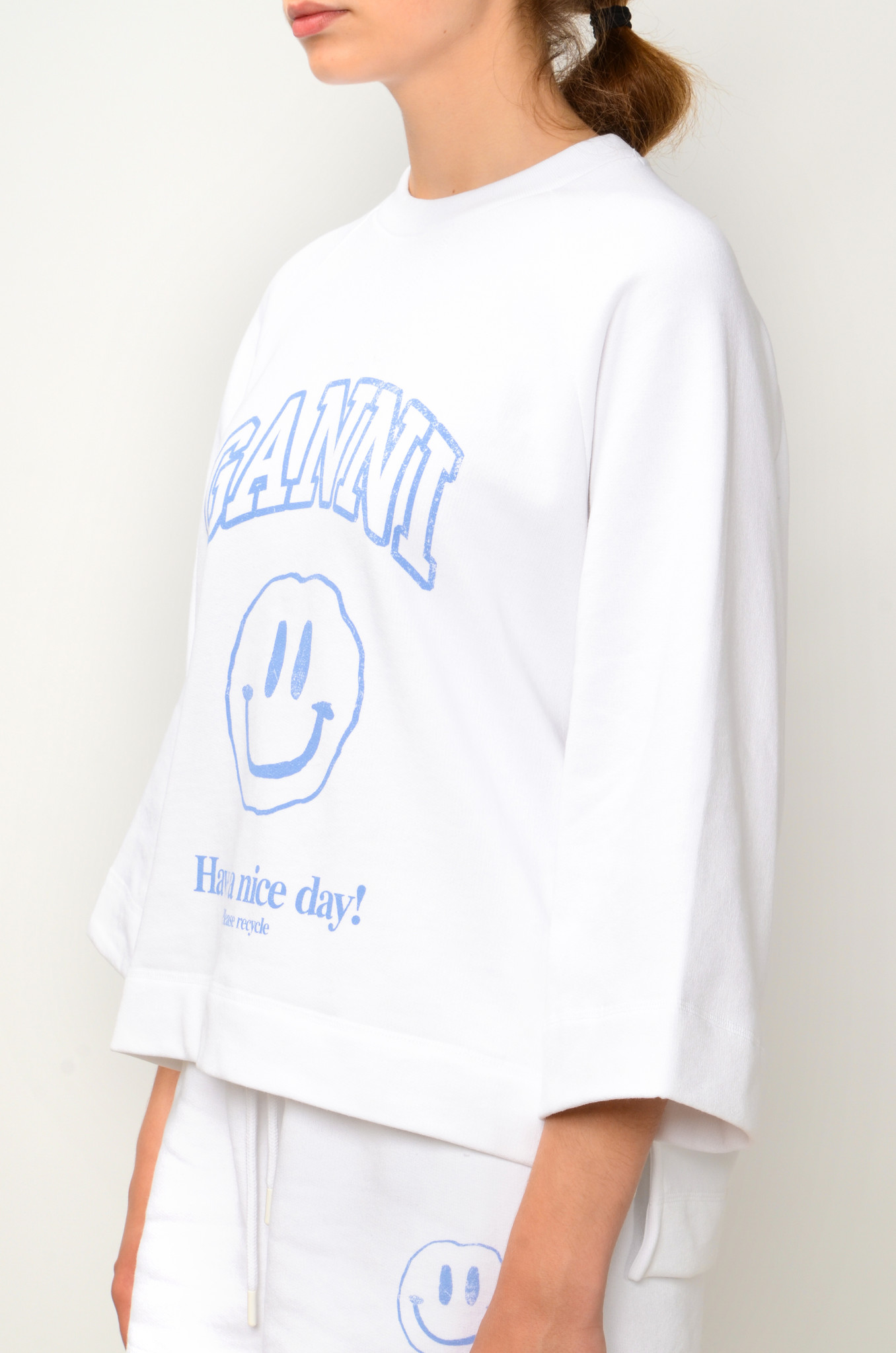 HAVE A NICE DAY SMILEY SWEATSHIRT IN HEATHER-3