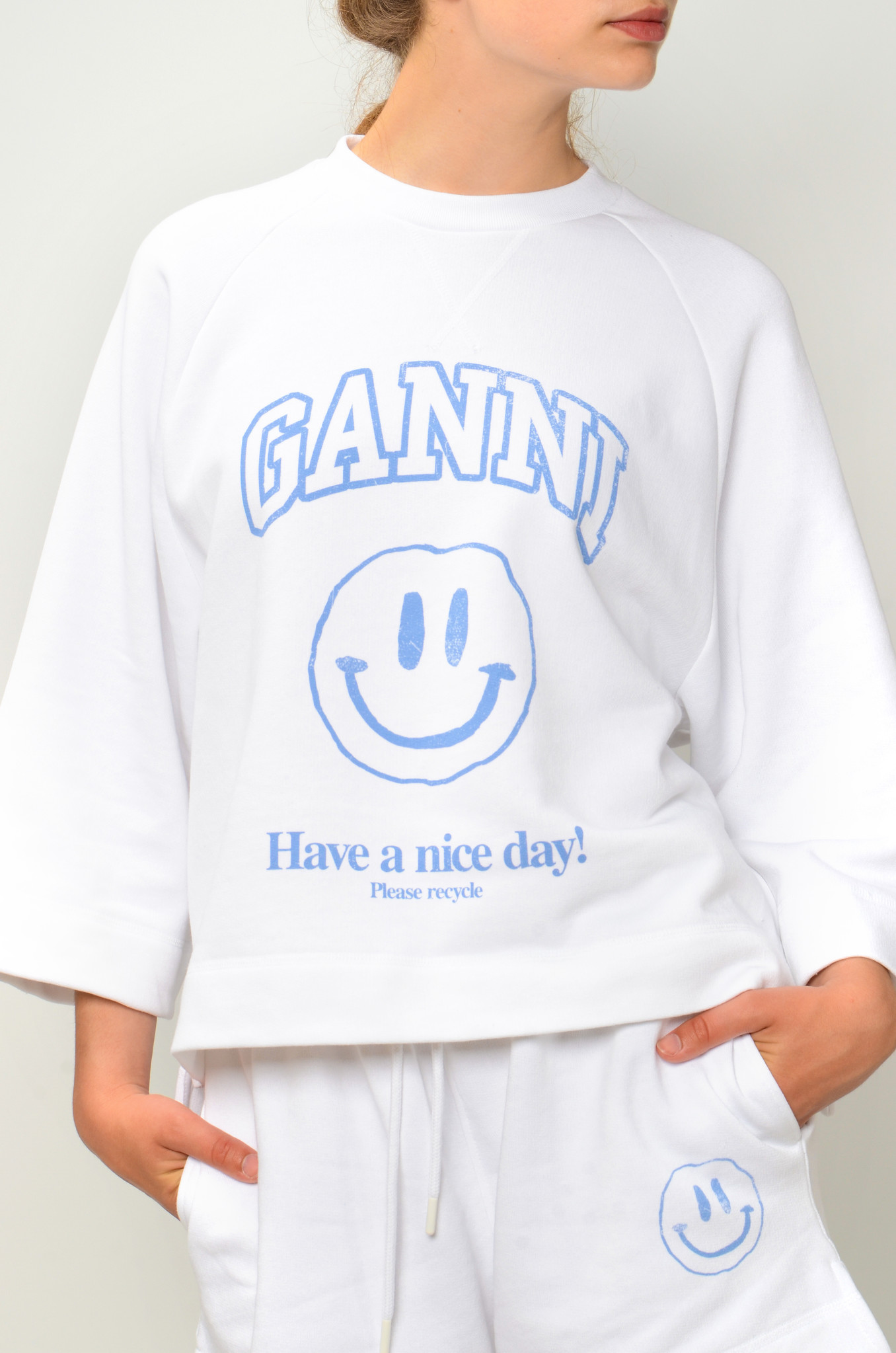 HAVE A NICE DAY SMILEY SWEATSHIRT IN HEATHER-5