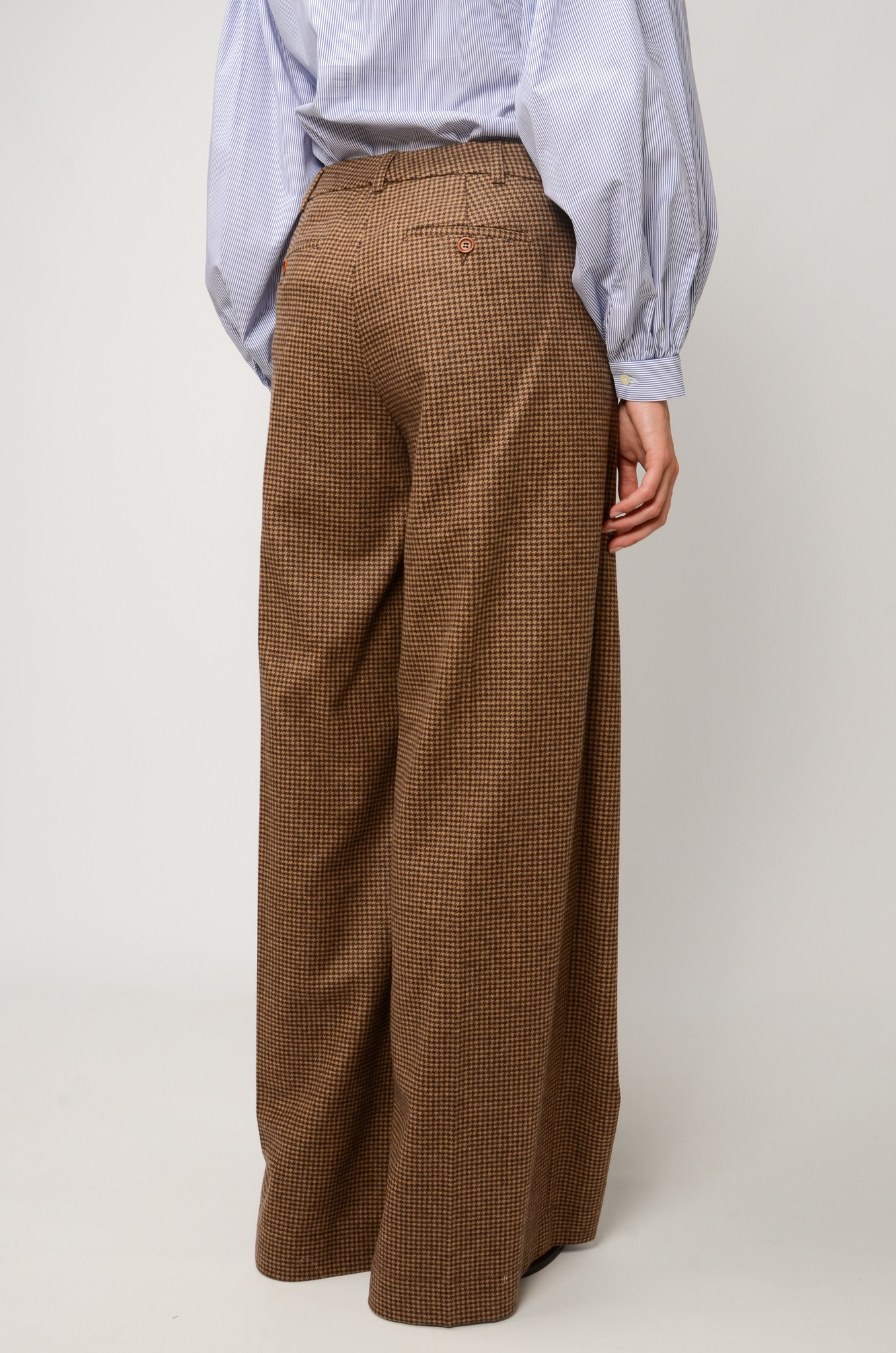 KATHERINE PANTS IN CHECKERED WOOL-4