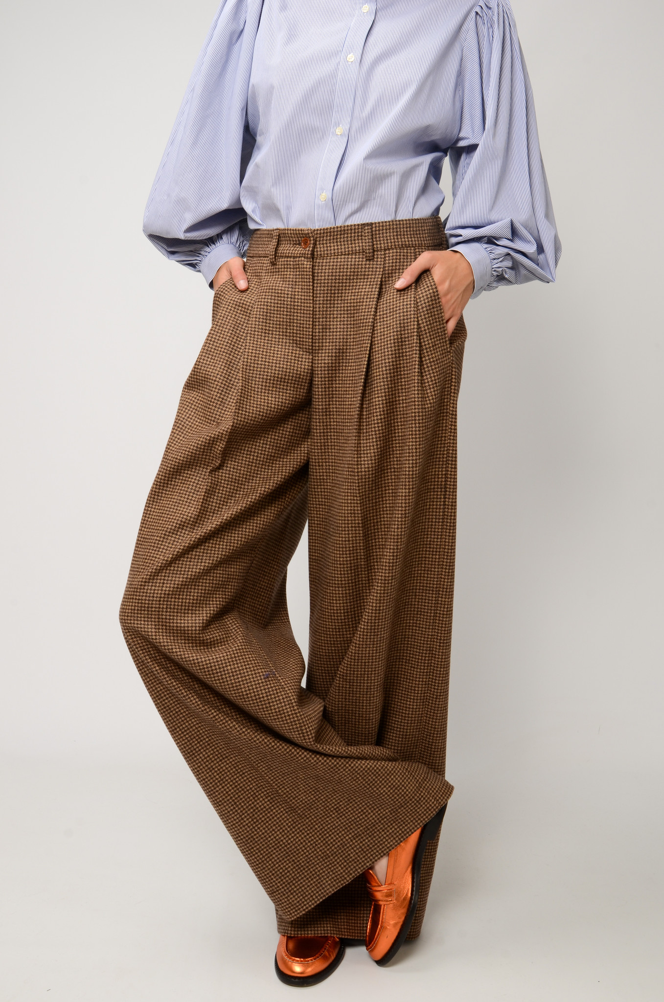KATHERINE PANTS IN CHECKERED WOOL-6