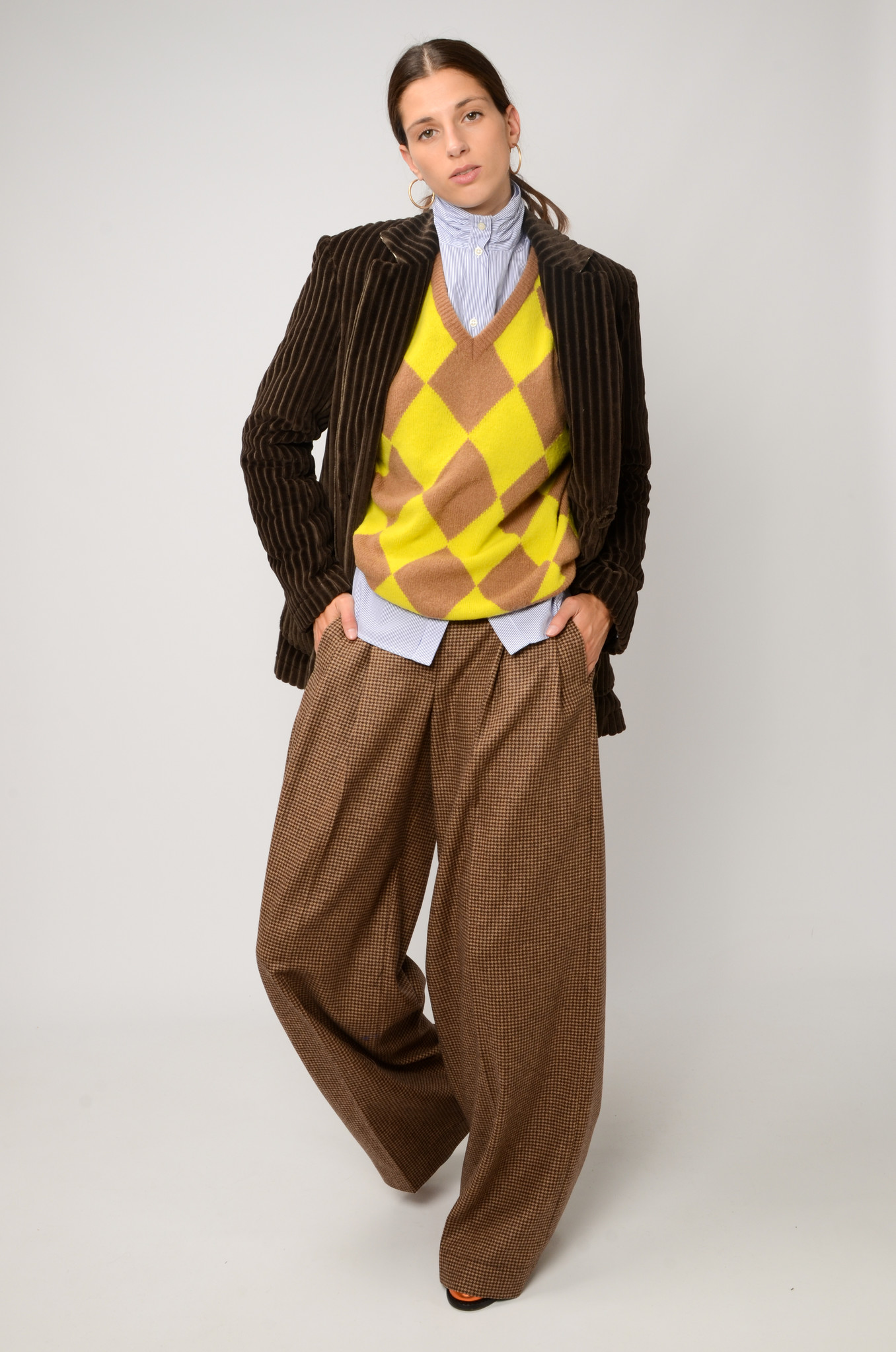 KATHERINE PANTS IN CHECKERED WOOL-2