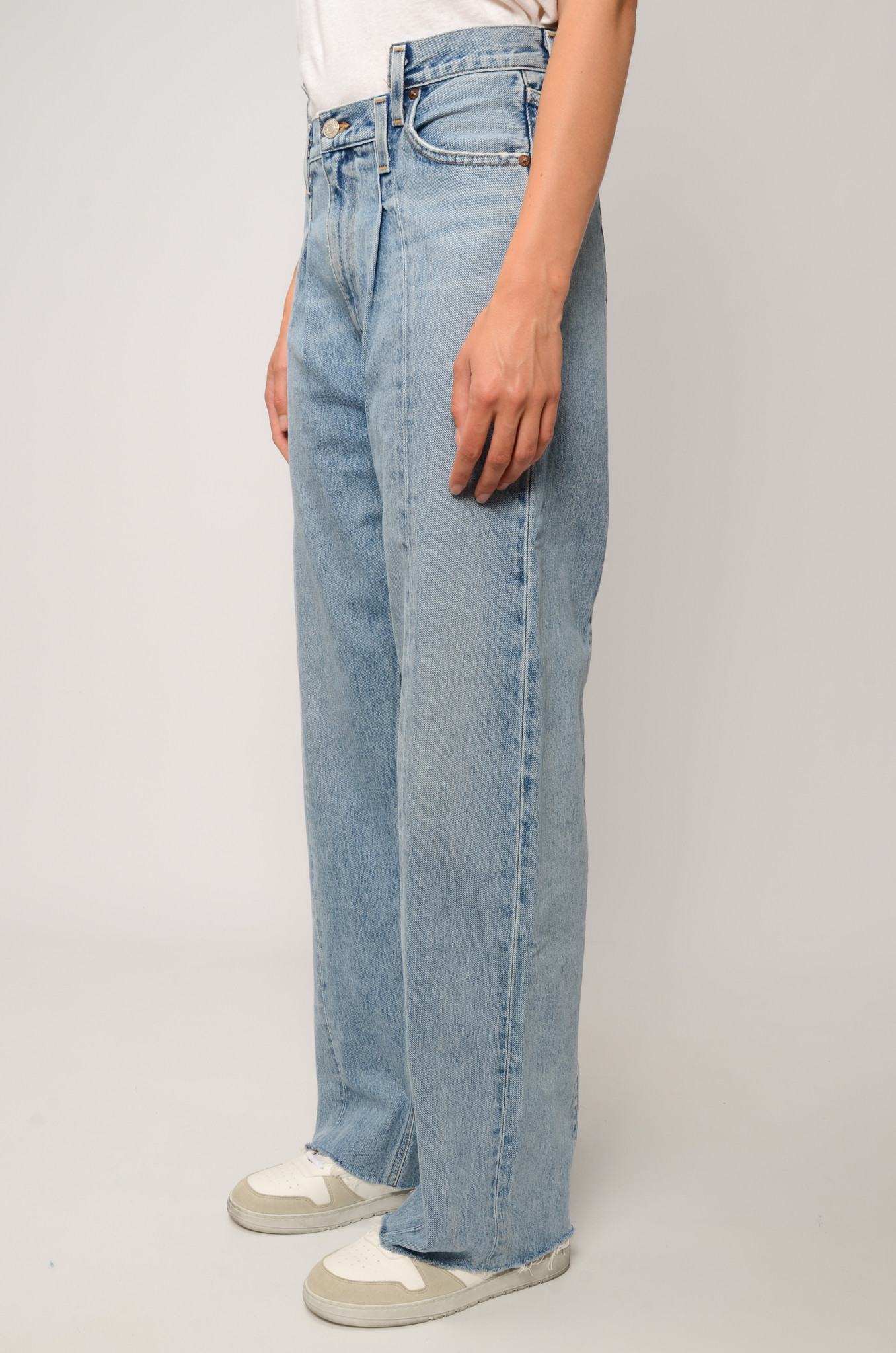PIECED ANGLED JEANS IN MATRIX-3