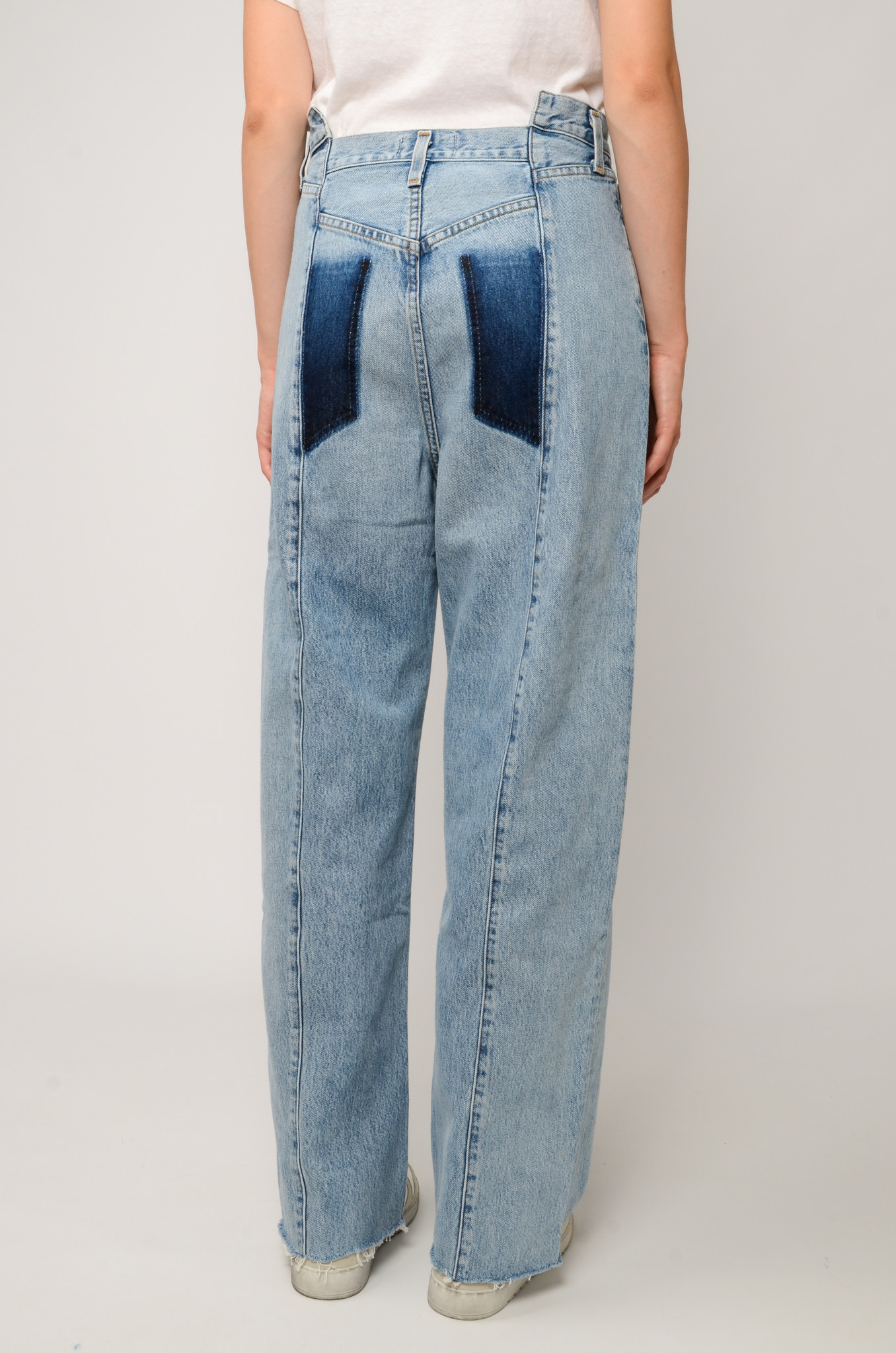 PIECED ANGLED JEANS IN MATRIX-4