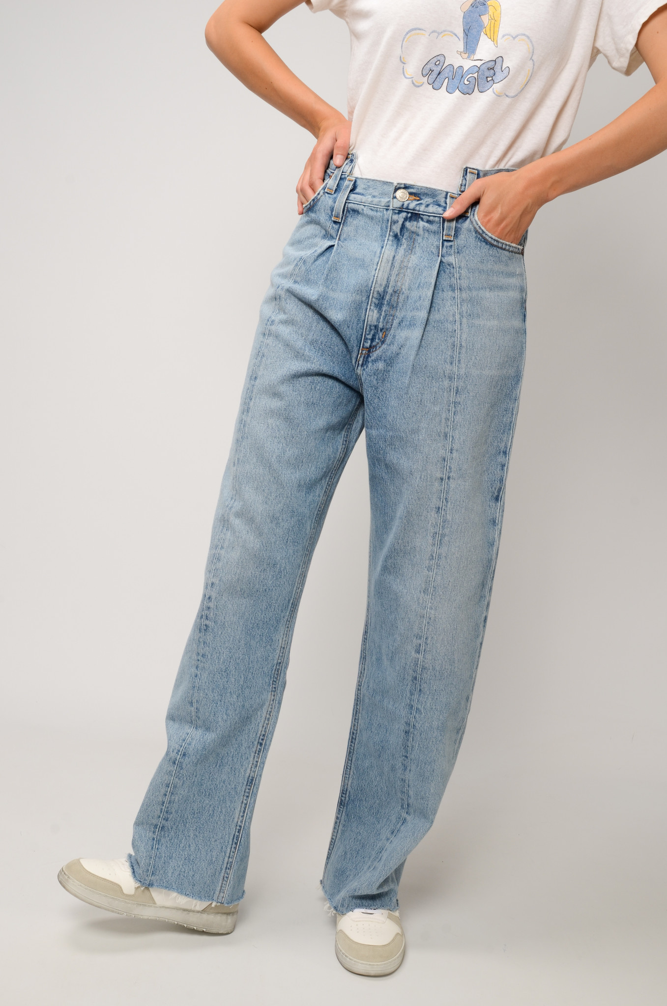 PIECED ANGLED JEANS IN MATRIX-5