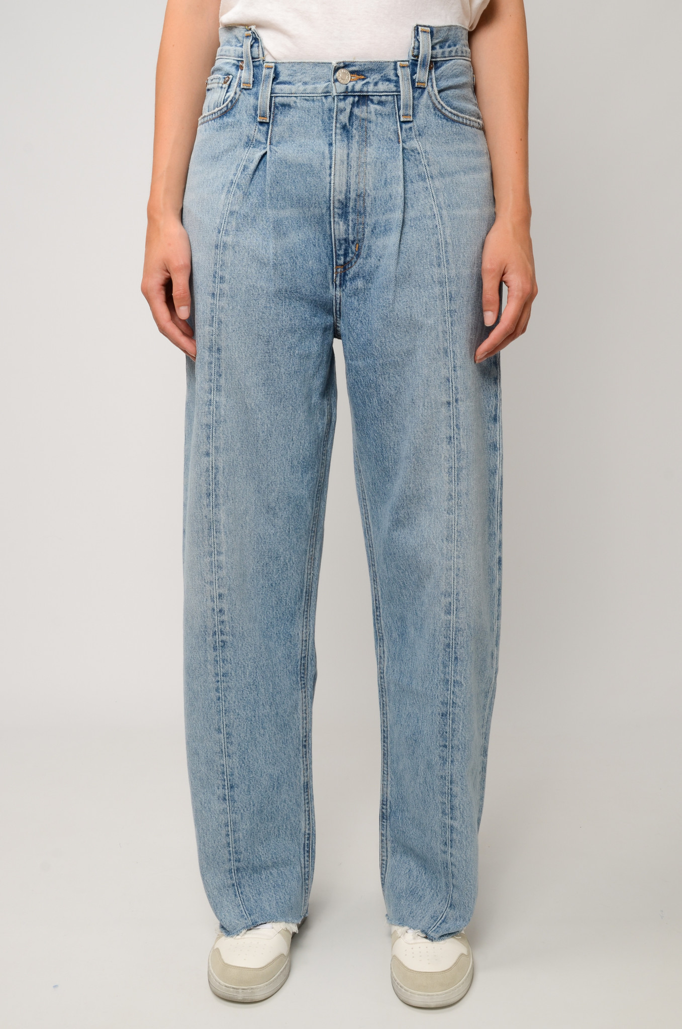 PIECED ANGLED JEANS IN MATRIX-1