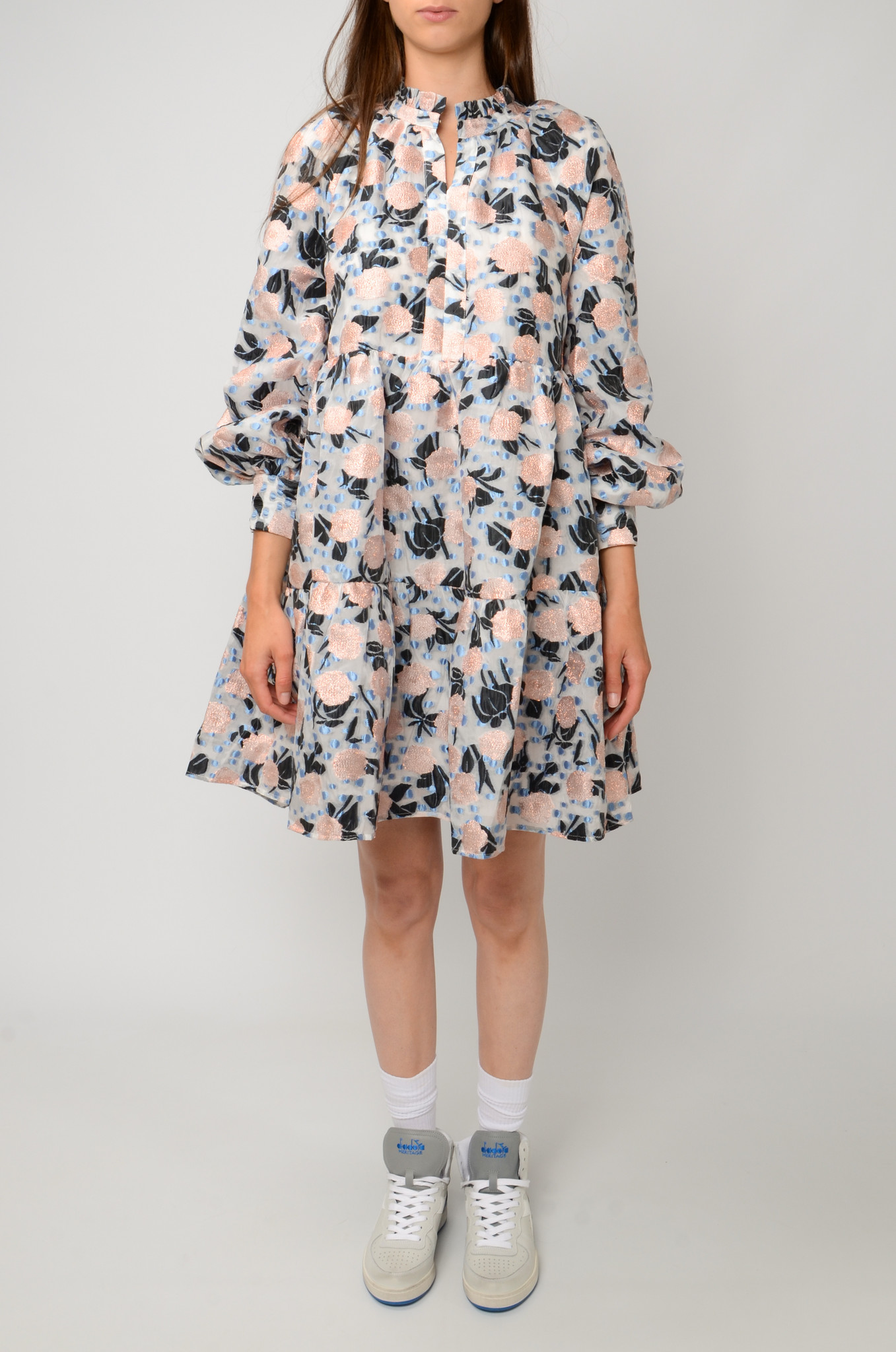 FLORAL ORGANZA DRESS-1