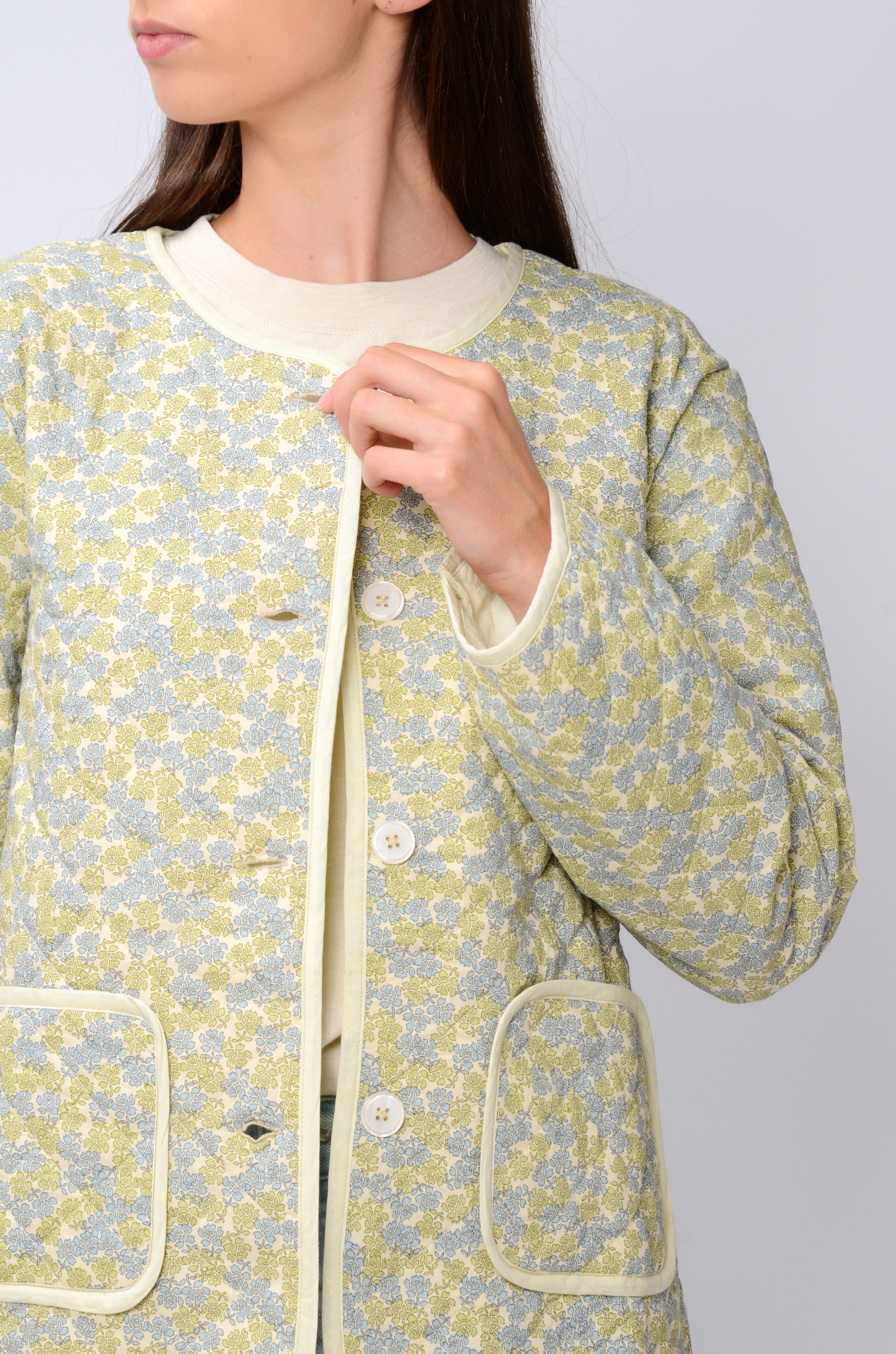 QUILTED FLOWER JACKET-5