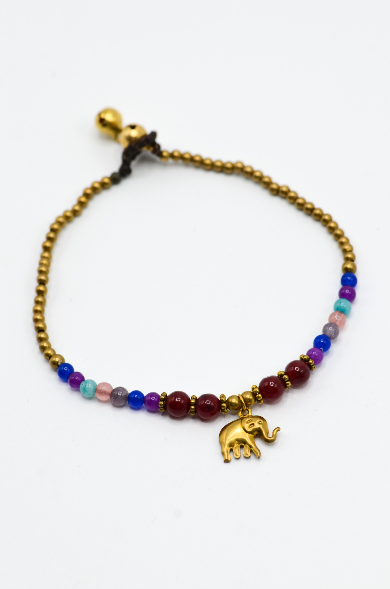 ELEPHANT RED BEADS ANKLET-1