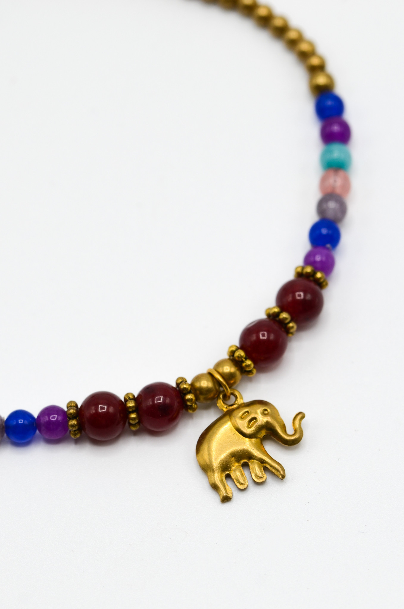 ELEPHANT RED BEADS ANKLET-2