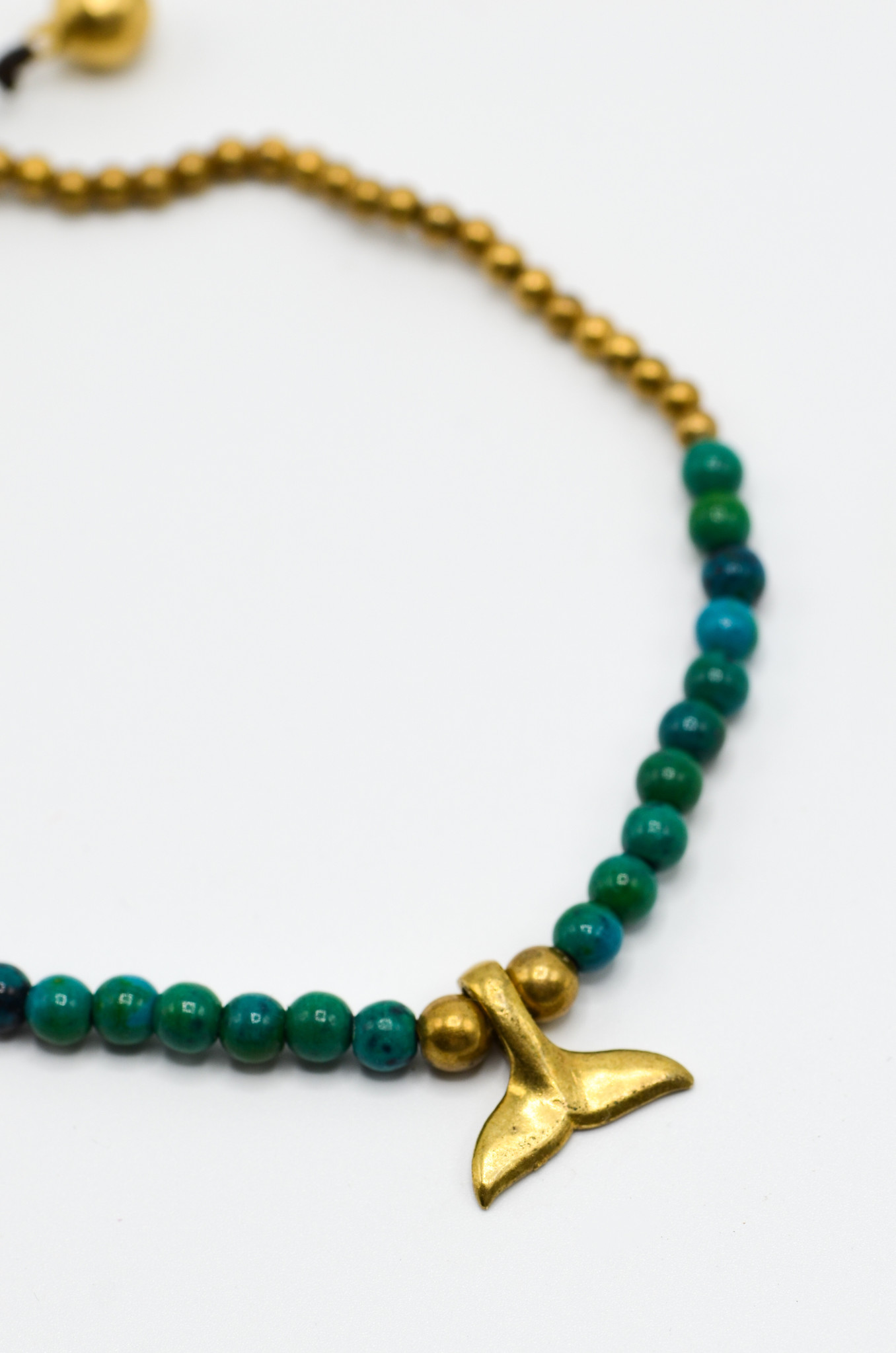 WHALETALE GREEN BEADS ANKLET-2