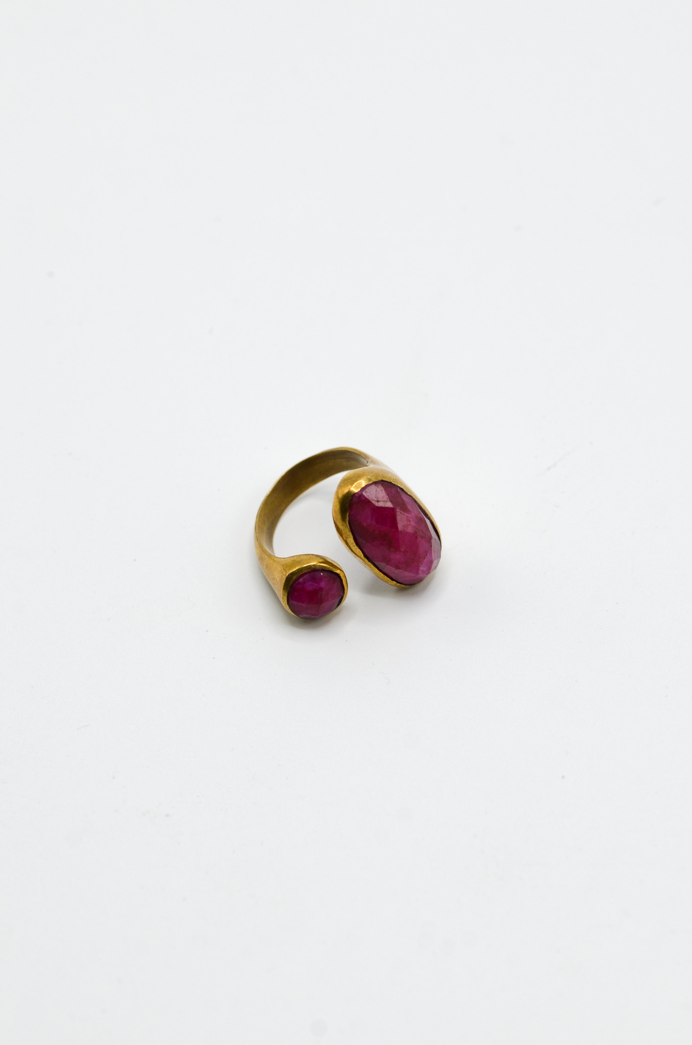 AGATE BRASS RING-1