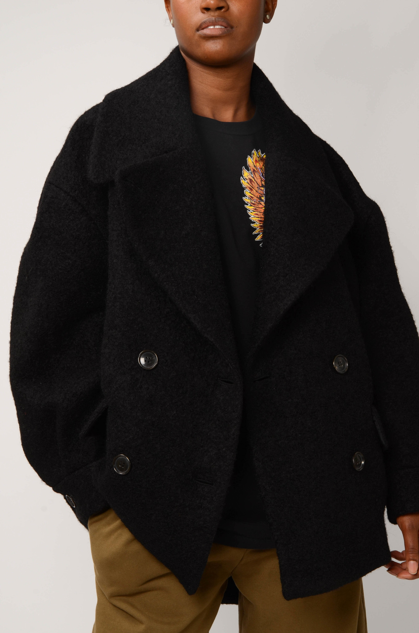 DOUBLE BREASTED COAT-5