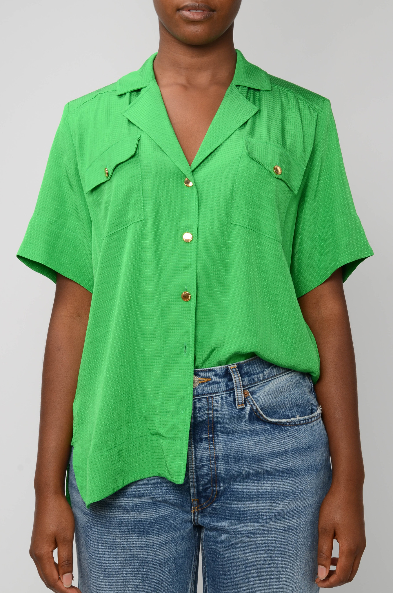 RIPSTOP SHIRT IN KELLY GREEN-1