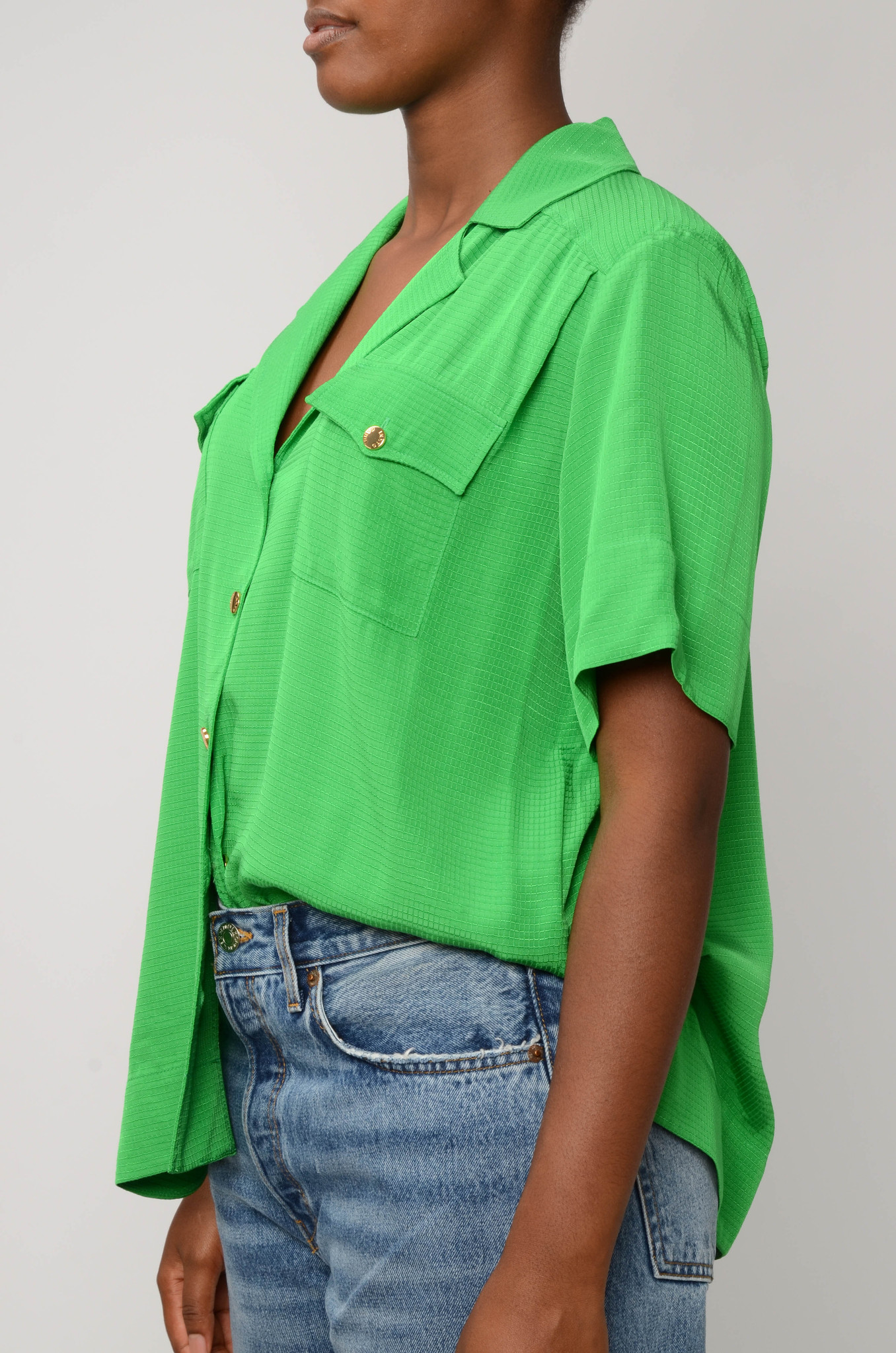 RIPSTOP SHIRT IN KELLY GREEN-3