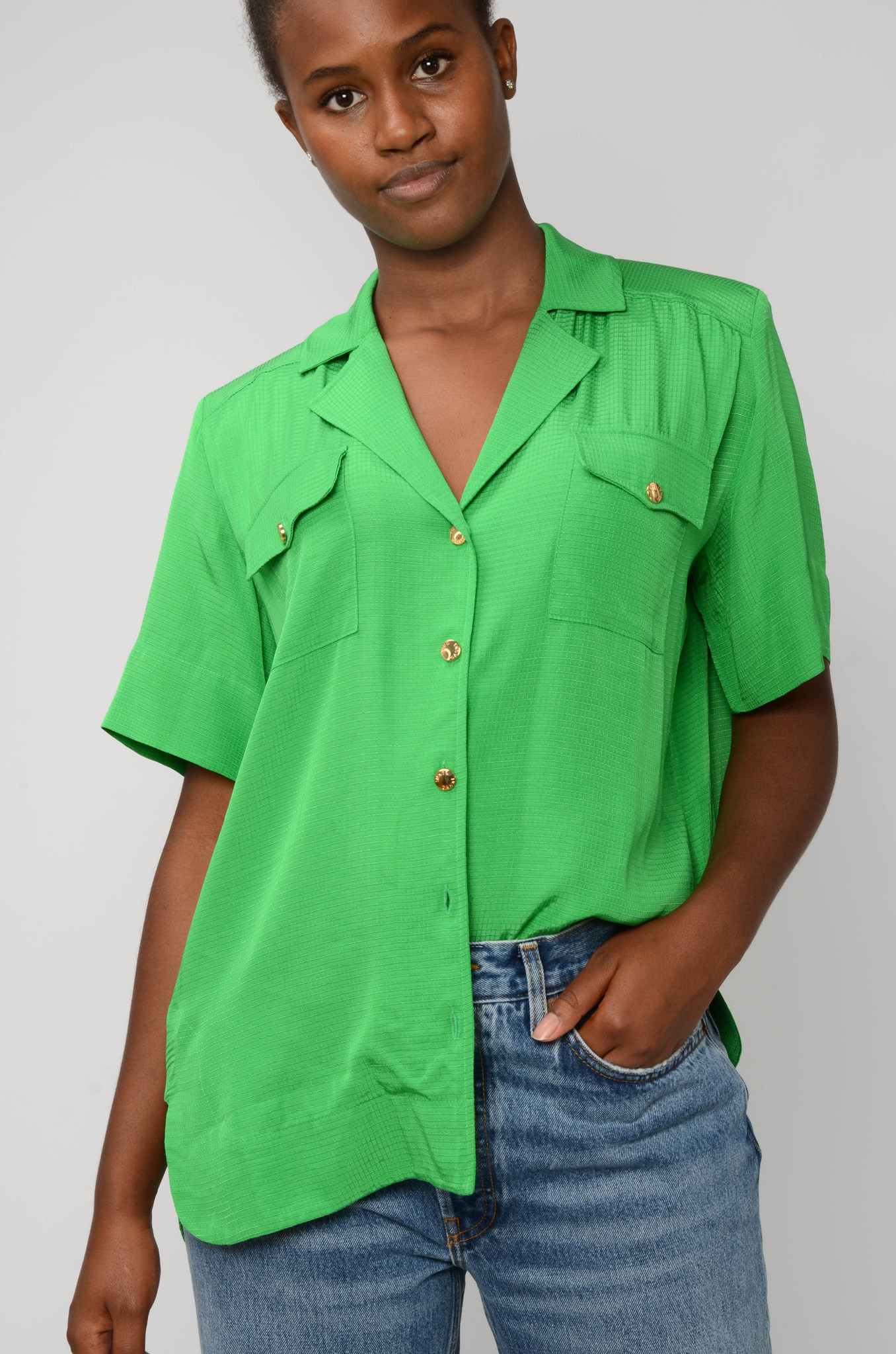 RIPSTOP SHIRT IN KELLY GREEN-5