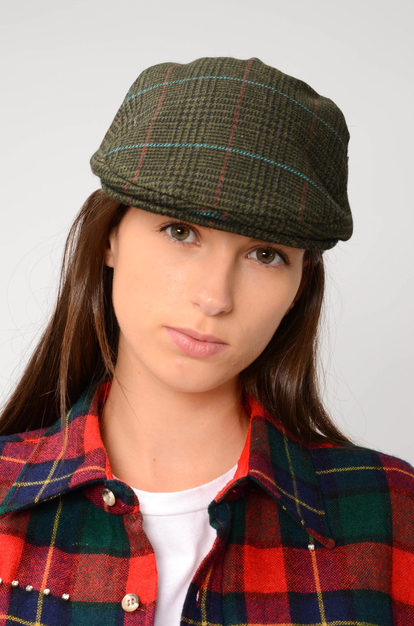 TWEED FLAT CAP IN GREEN-2