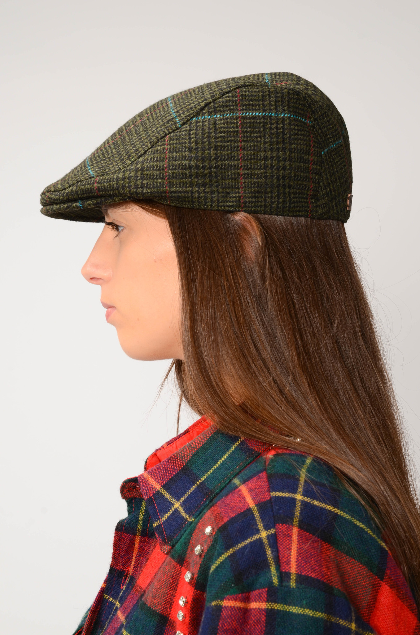 TWEED FLAT CAP IN GREEN-7