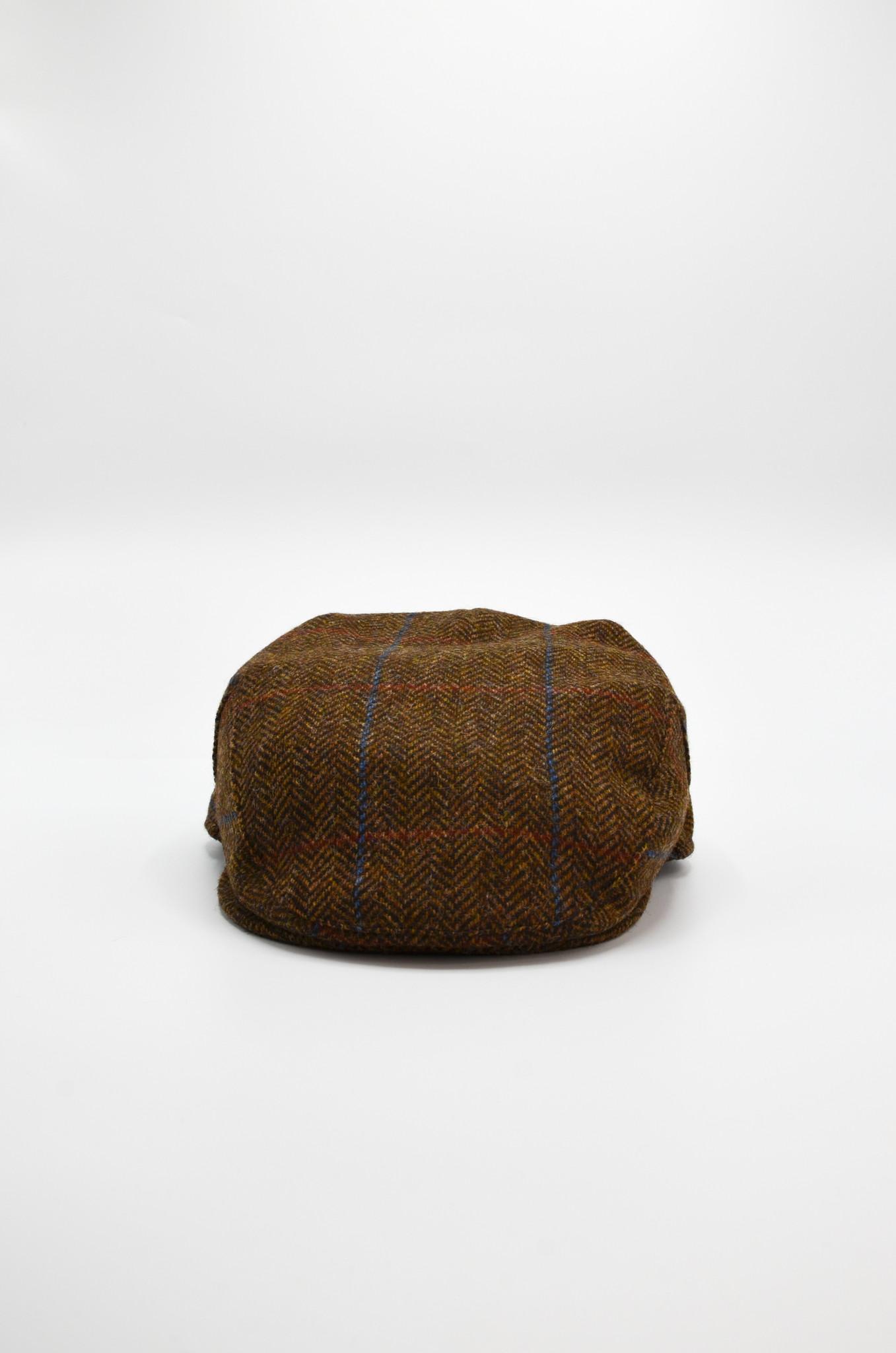 HERRINGBONE FLAT CAP IN BROWN-1