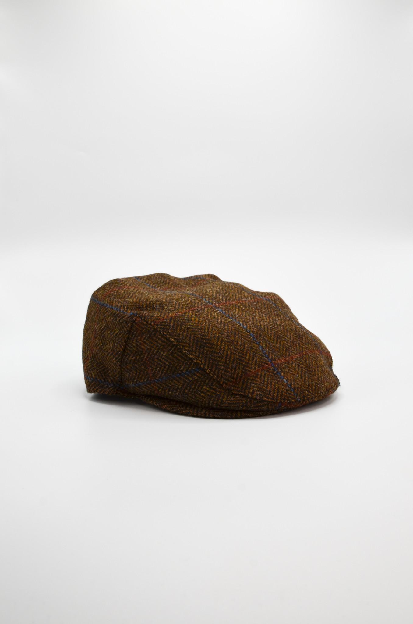 HERRINGBONE FLAT CAP IN BROWN-2