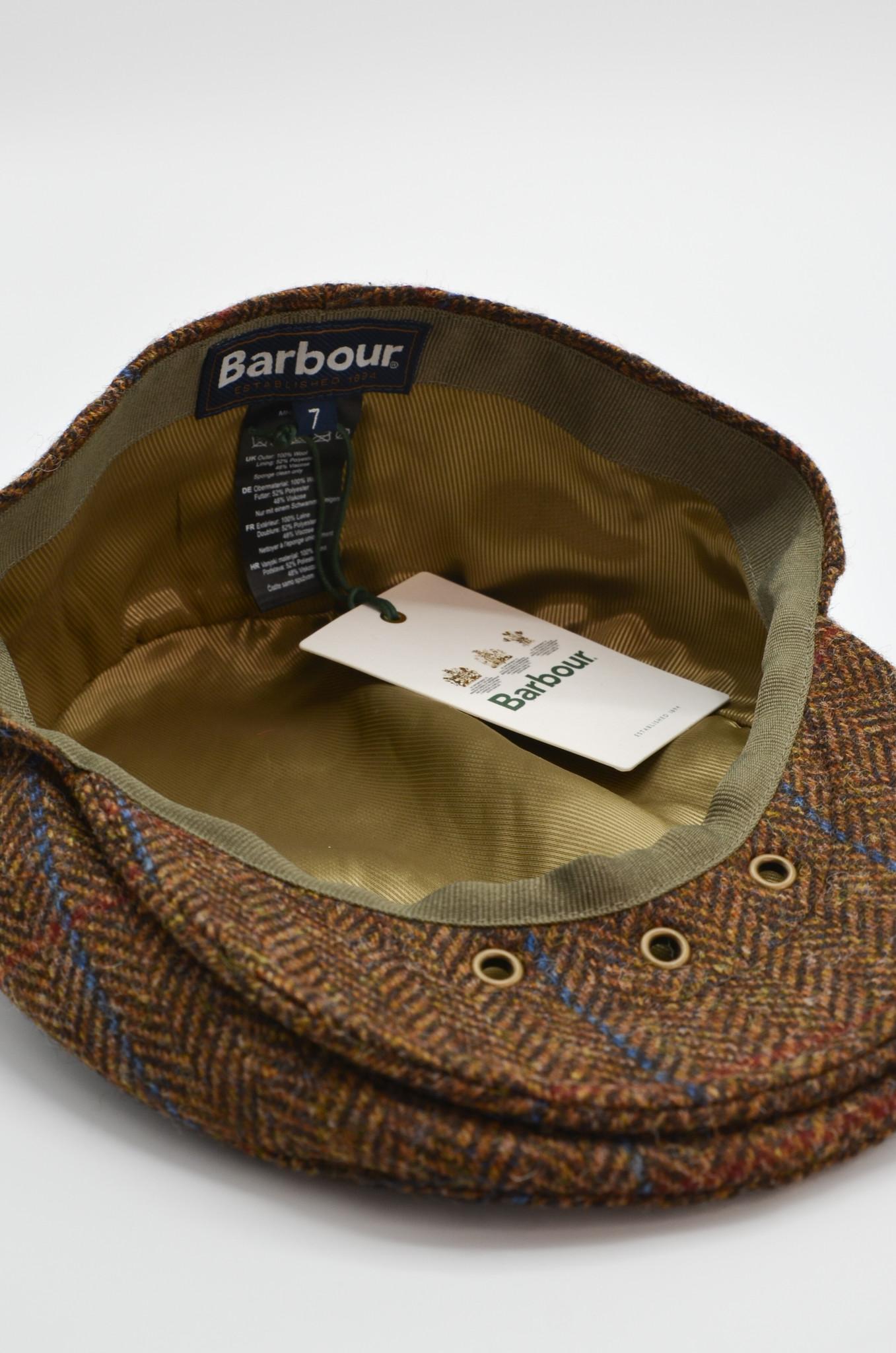 HERRINGBONE FLAT CAP IN BROWN-4