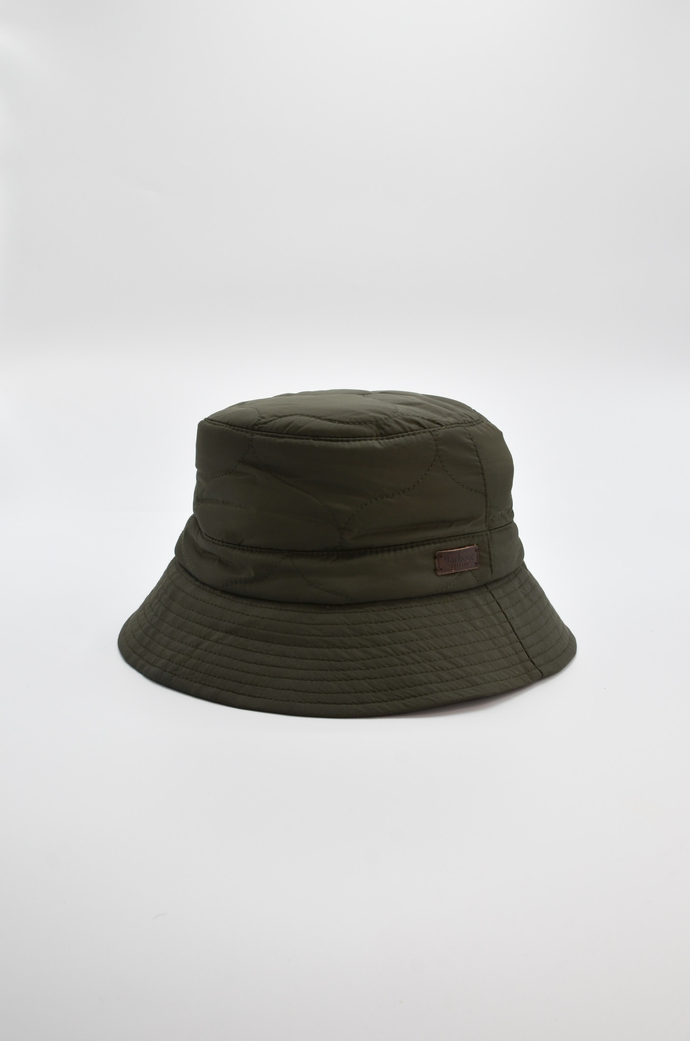 QUILTED  BUCKET HAT IN OLIVE-1