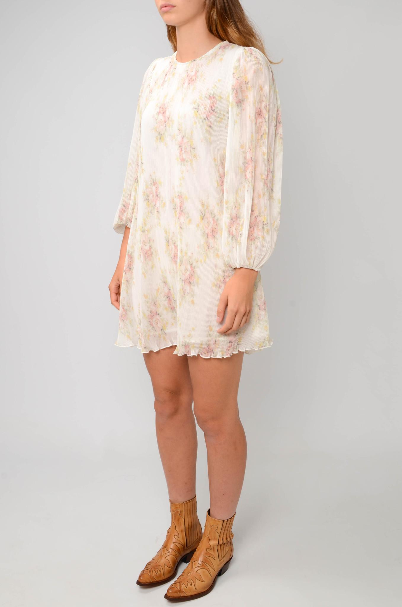 PLEATED GEORGETTE SHORT DRESS-3
