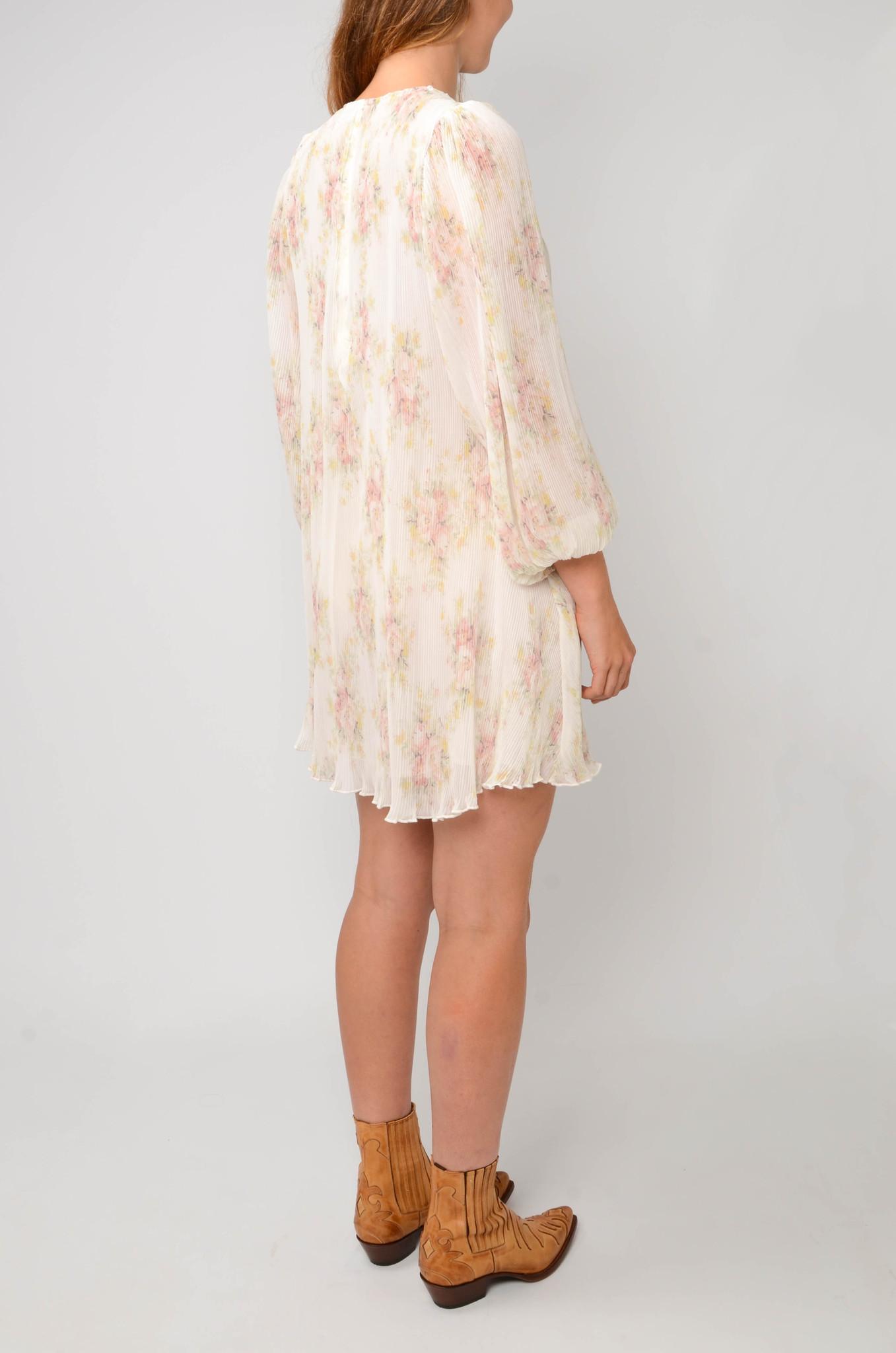 PLEATED GEORGETTE SHORT DRESS-4