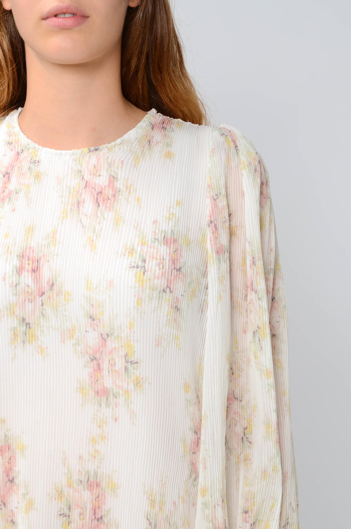 PLEATED GEORGETTE SHORT DRESS-5