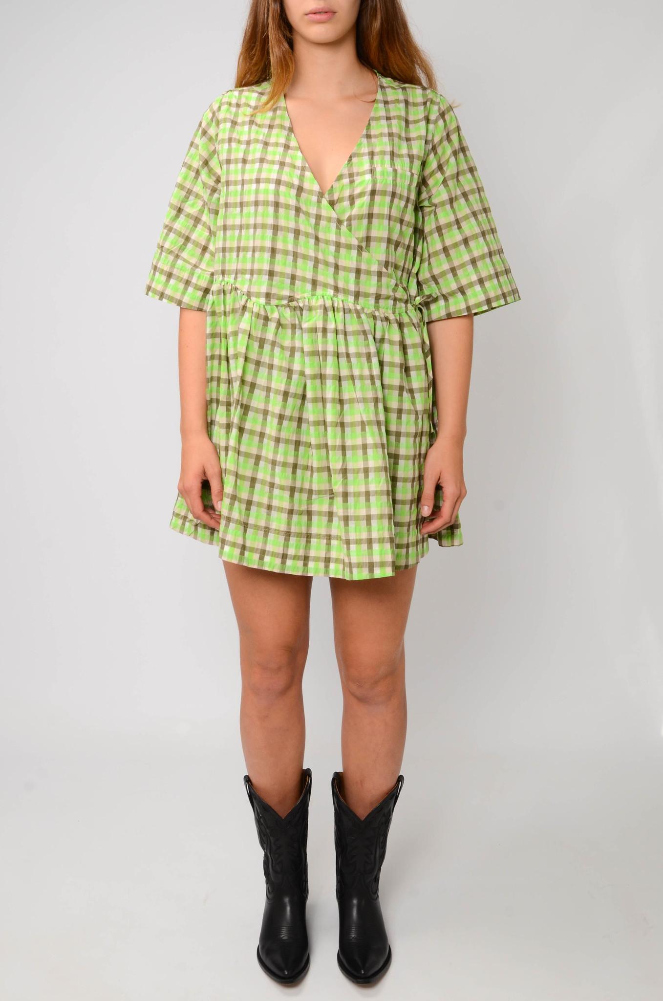 SEERSUCKER BABYDOLL DRESS-1