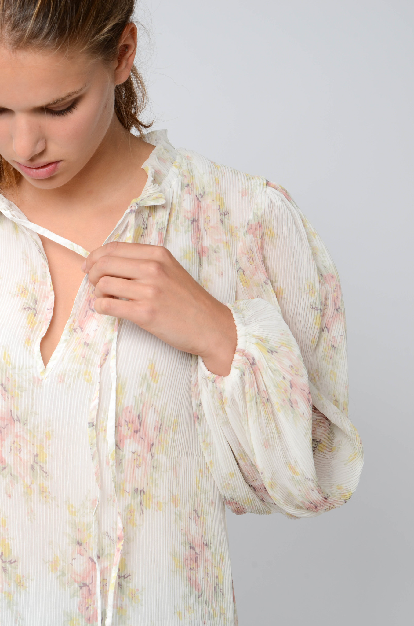 GEORGETTE PLEATED BLOUSE-6