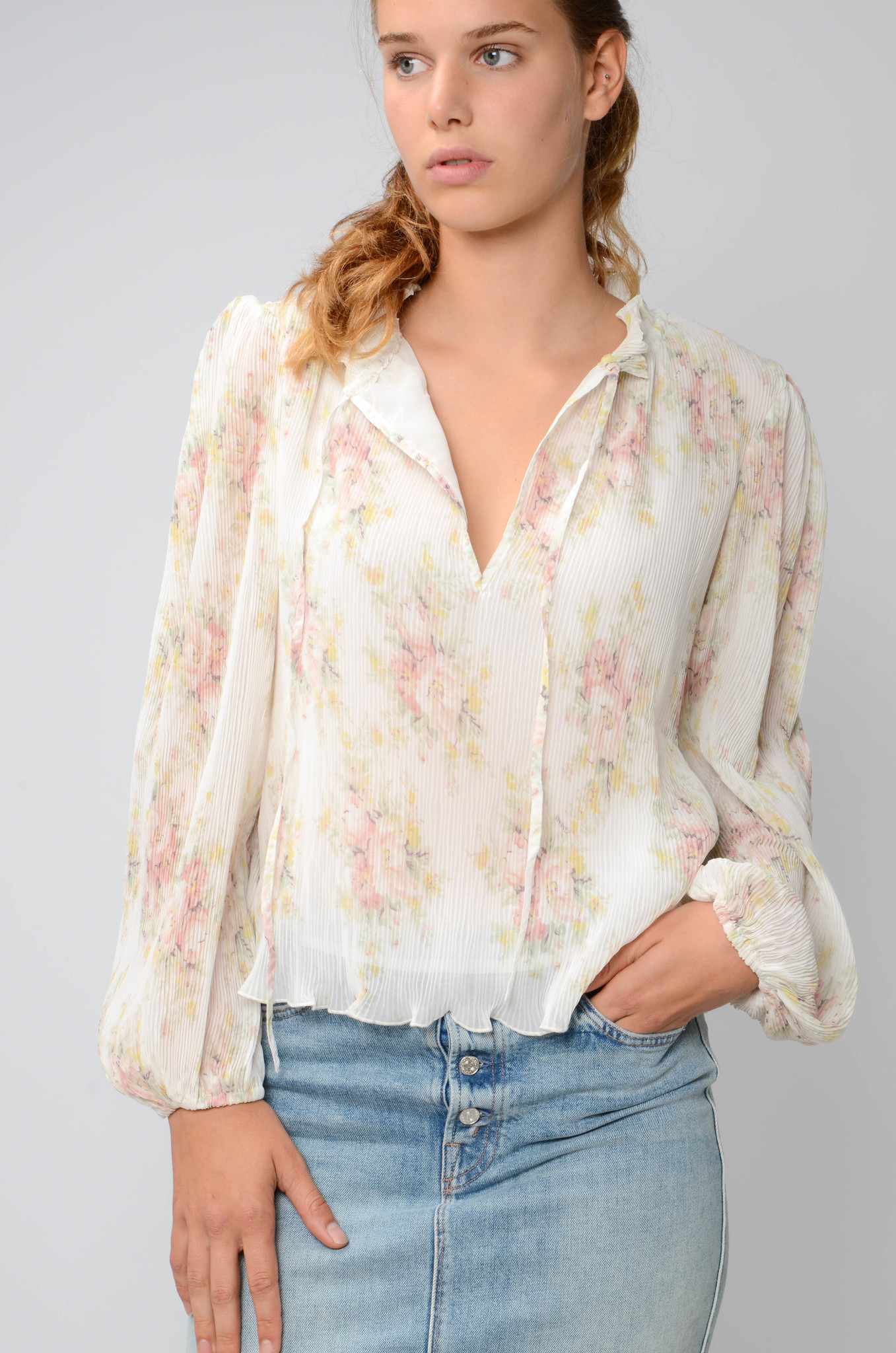 GEORGETTE PLEATED BLOUSE-7
