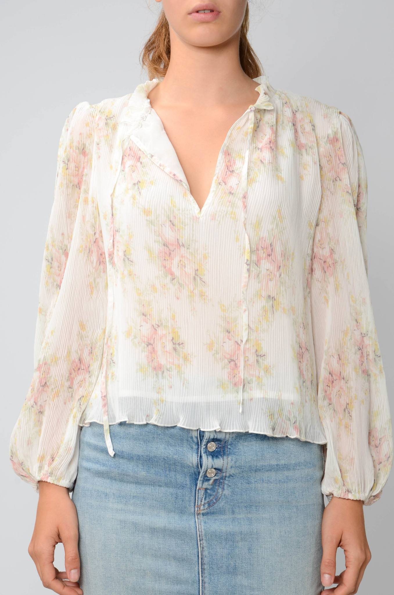 GEORGETTE PLEATED BLOUSE-1
