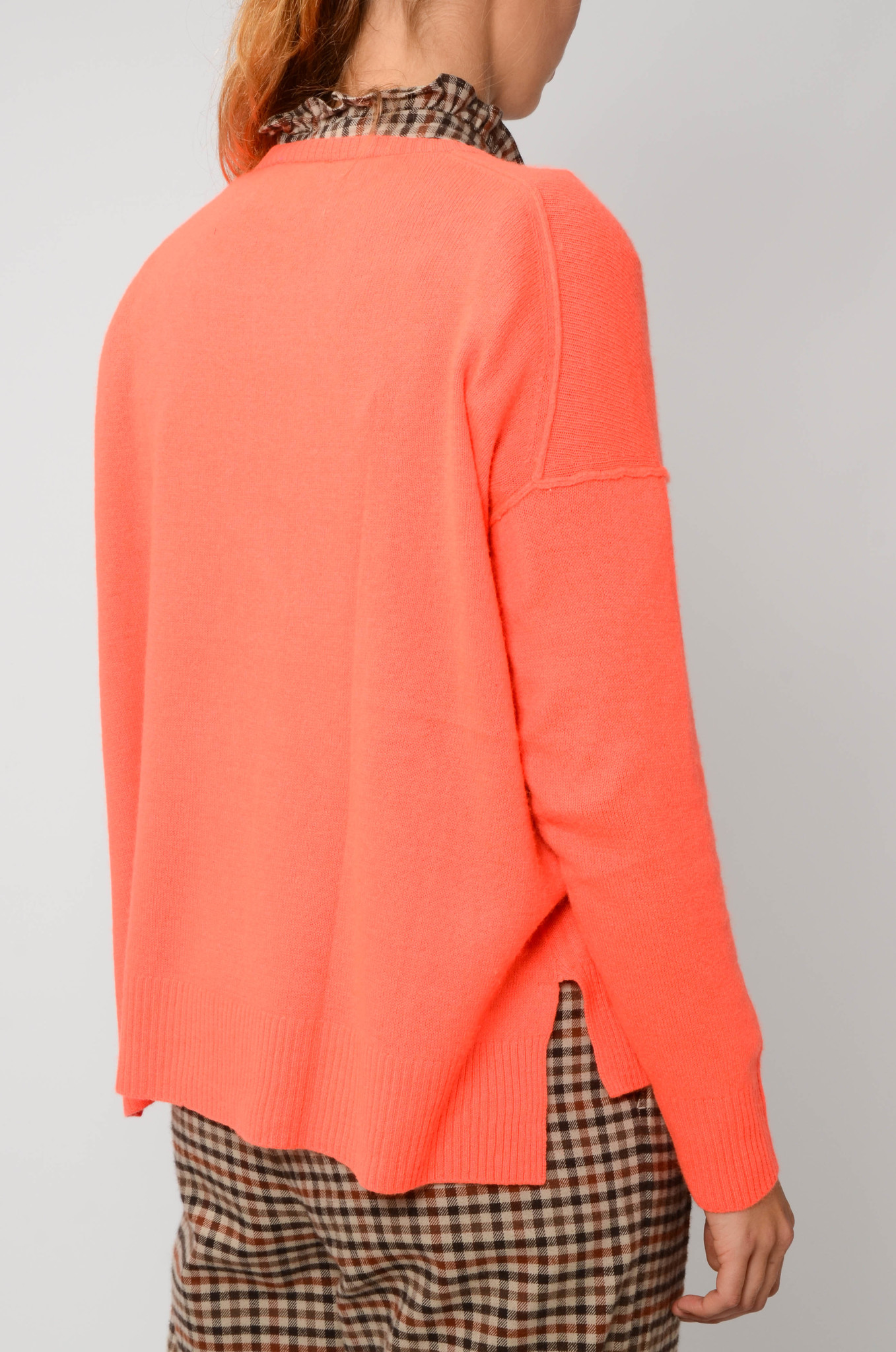 KENZA SWEATER IN NEON CORAL-4