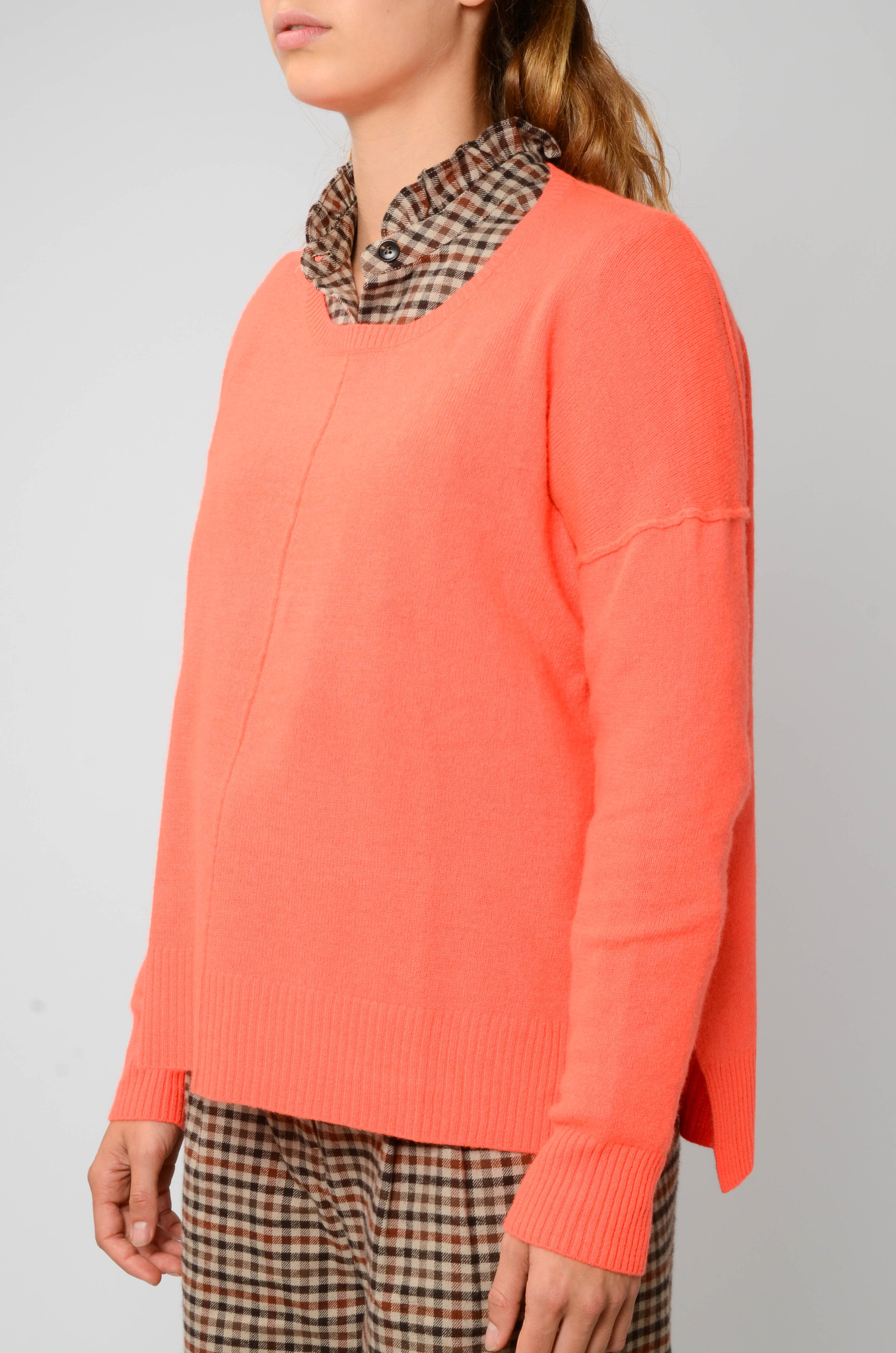 KENZA SWEATER IN NEON CORAL-3