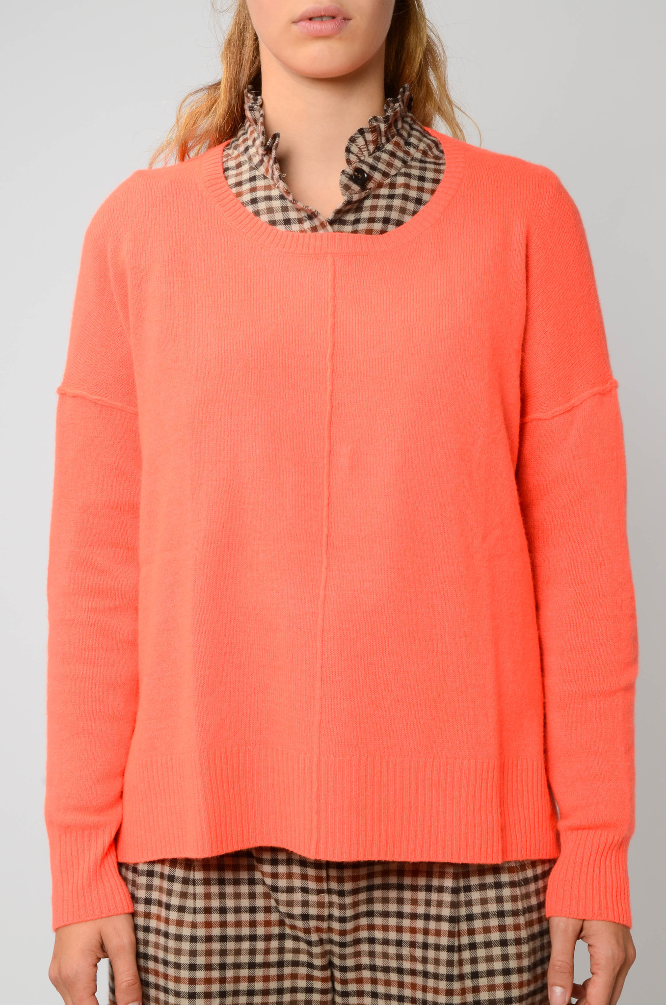 KENZA SWEATER IN NEON CORAL-1