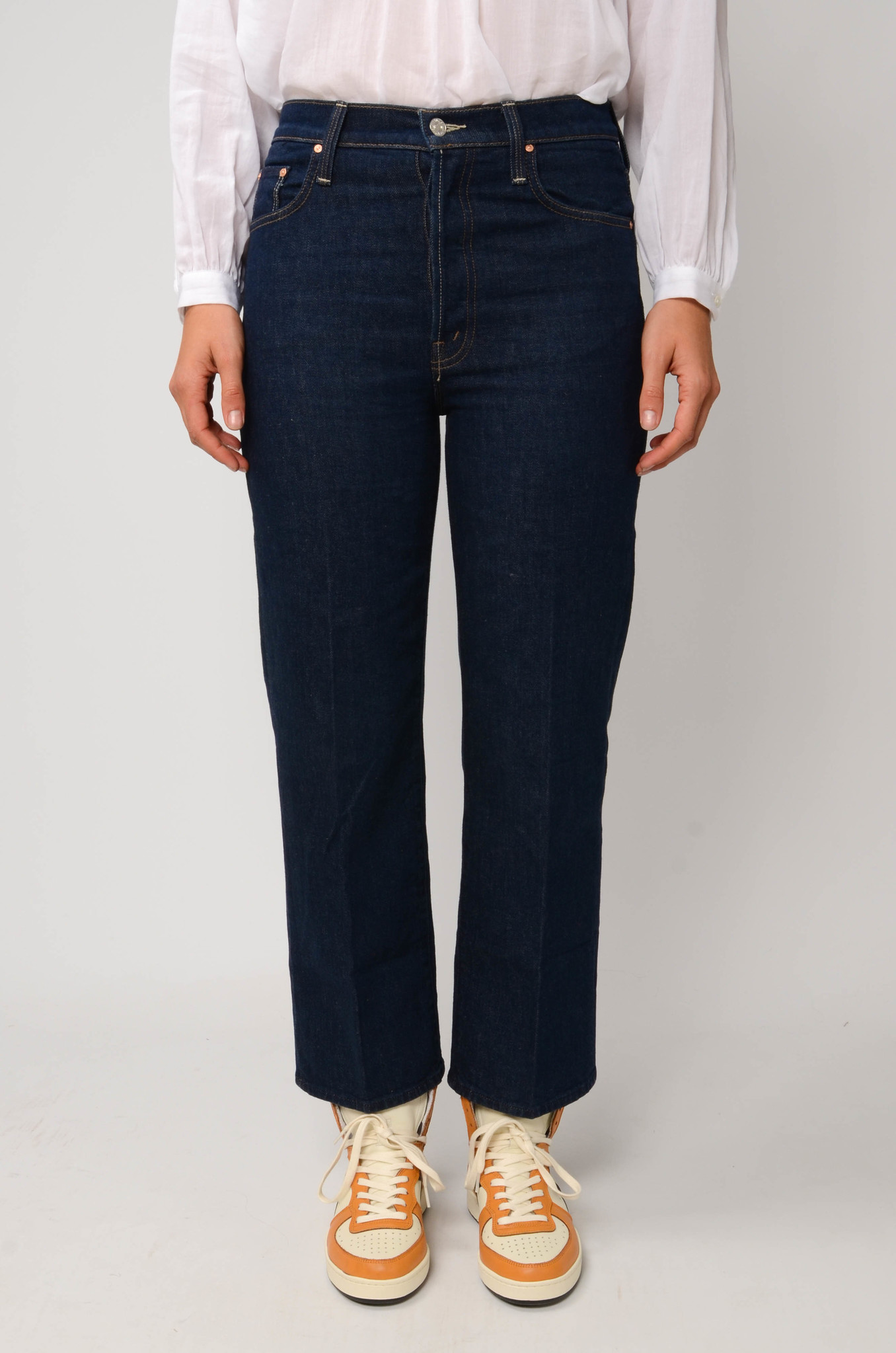 THE RAMBLER ANKLE JEANS  IN CLEAN UP-1